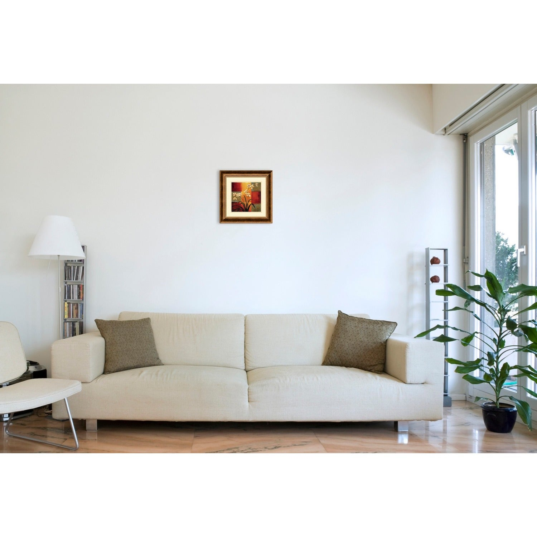 Framed Art Print \'White Orchid\' by Jill Deveraux 17 x 17-inch - Free ...