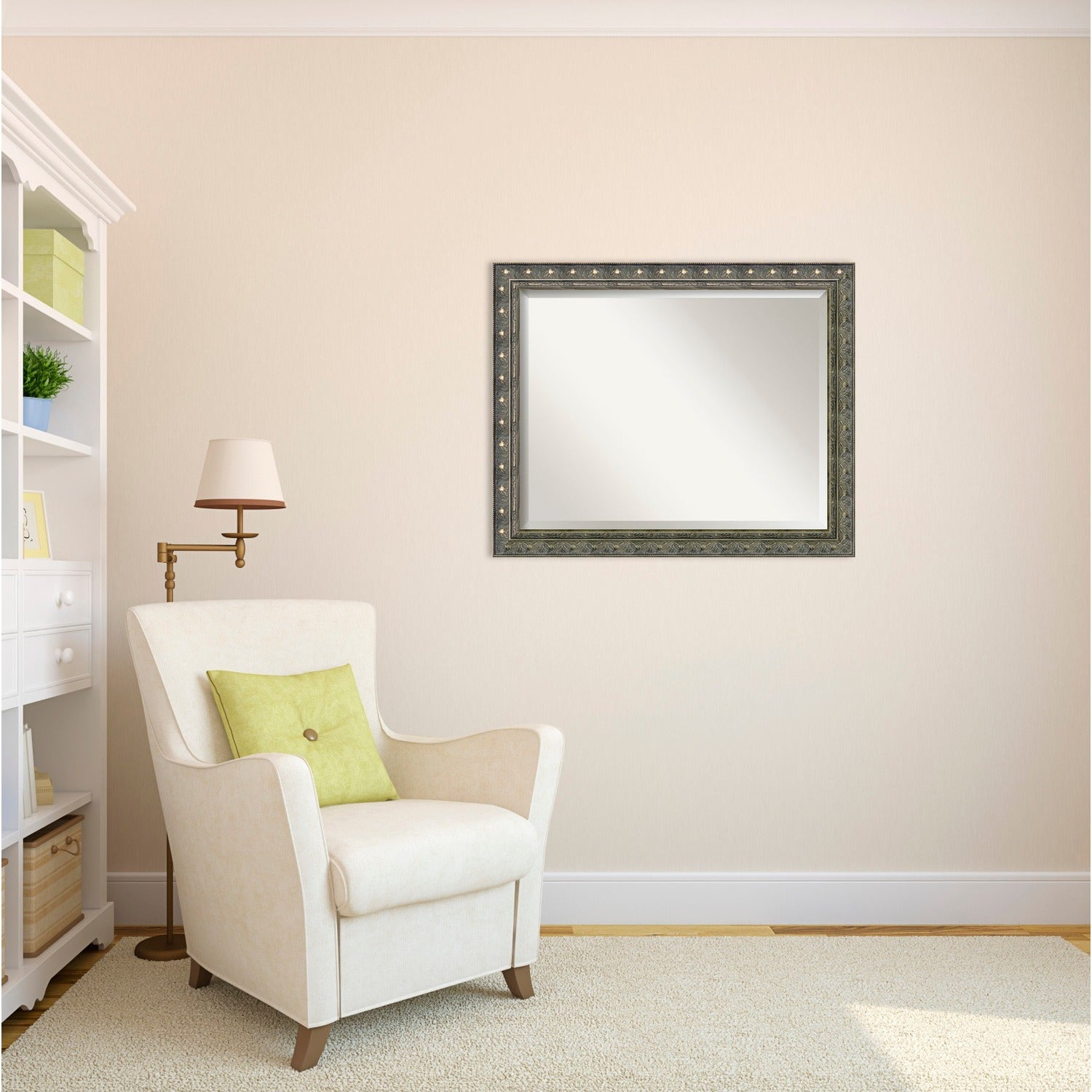 Shop Wall Mirror Large, Barcelona Champagne 32 x 26-inch - Pewter ...