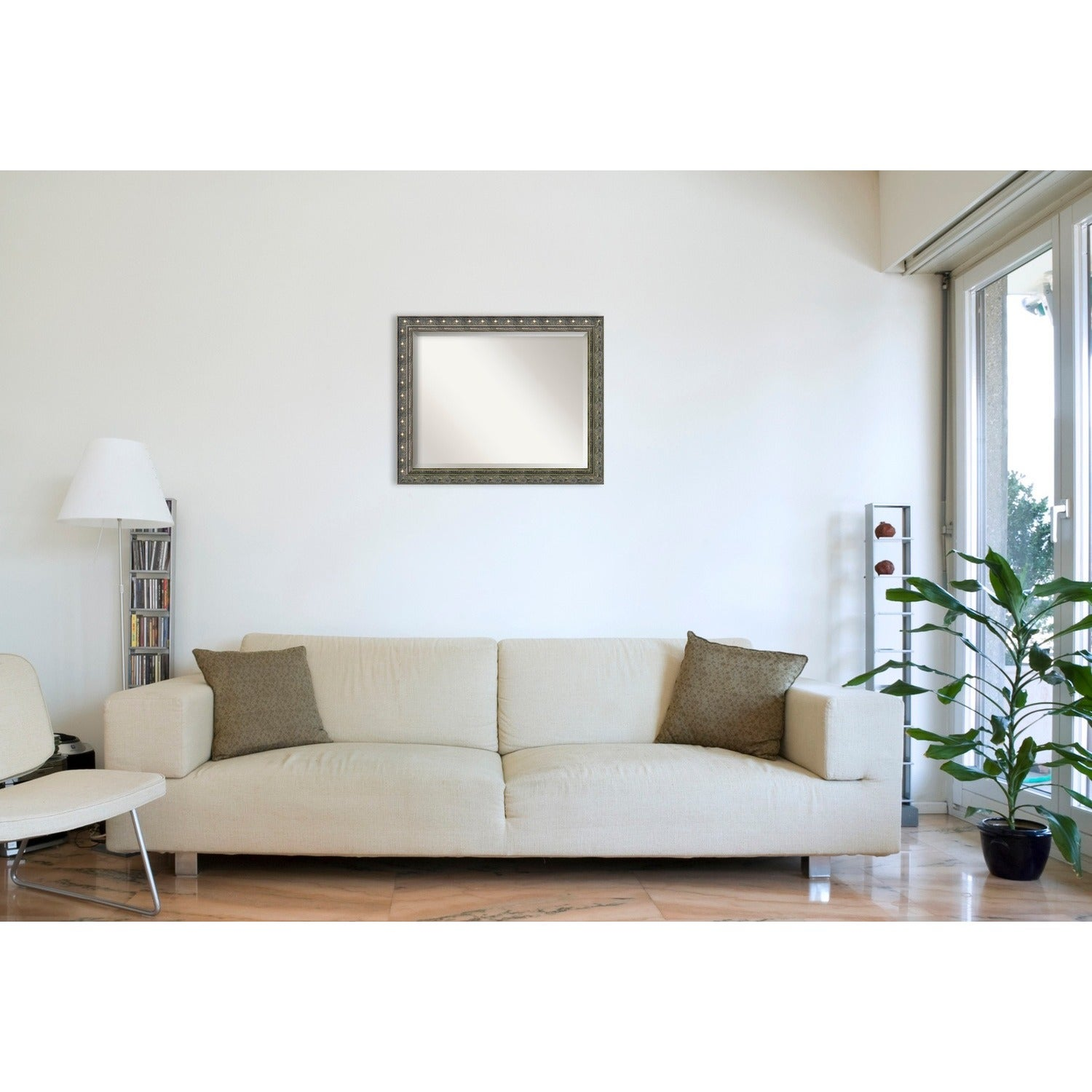 Wall Mirror Large, Barcelona Champagne 32 x 26-inch - Pewter - Free ...