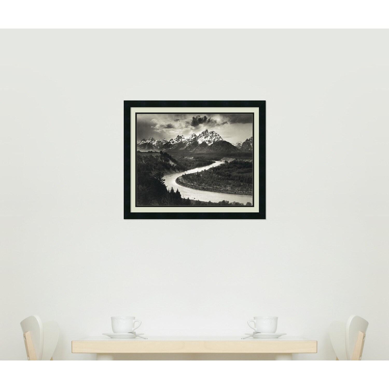 Framed Art Print \'The Tetons and the Snake River, Grand Teton ...