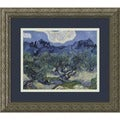 Framed Art Print 'Olive Trees with the Alpilles in the Background, Saint-Remy 1889' by Vincent van Gogh 16 x 14-inch