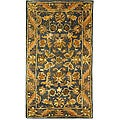 Safavieh Handmade Exquisite Blue/ Gold Wool Runner (2'3 x 4')