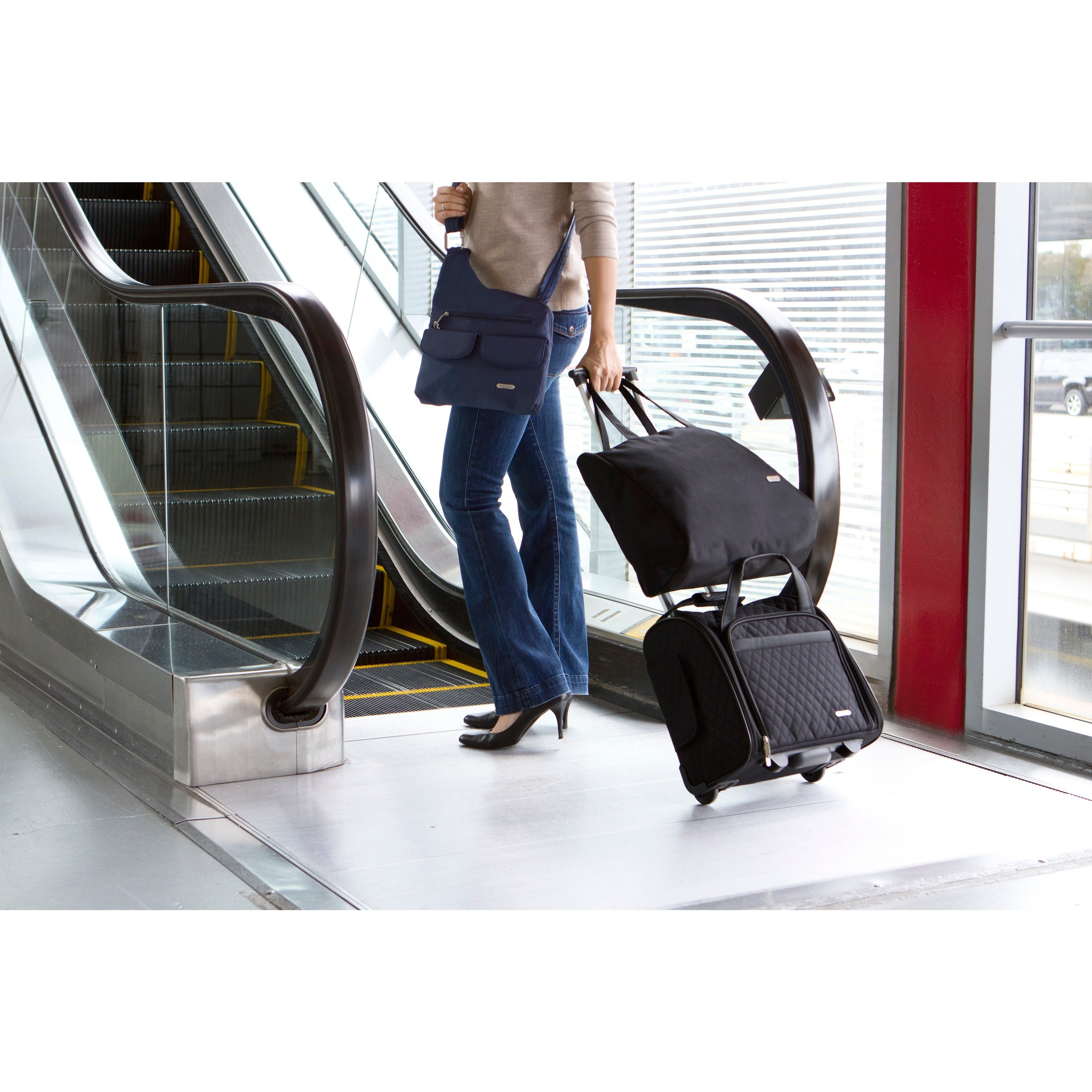 266a5753e Shop Travelon Wheeled Underseat Carry-on with Back-up Bag - Free Shipping  Today - Overstock - 3958054