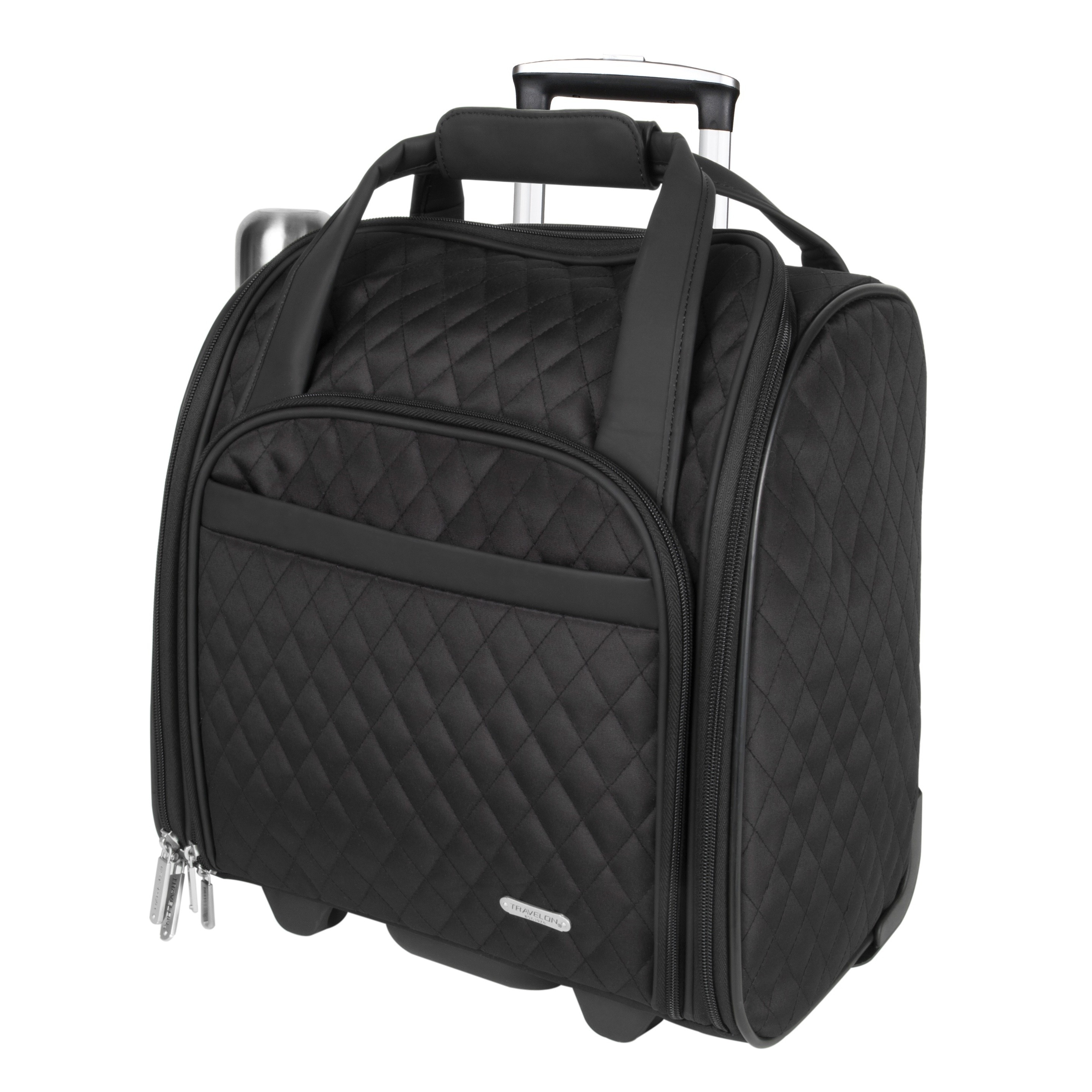4d87efd3c99f Shop Travelon Wheeled Underseat Carry-on with Back-up Bag - Free Shipping  Today - Overstock - 3958054