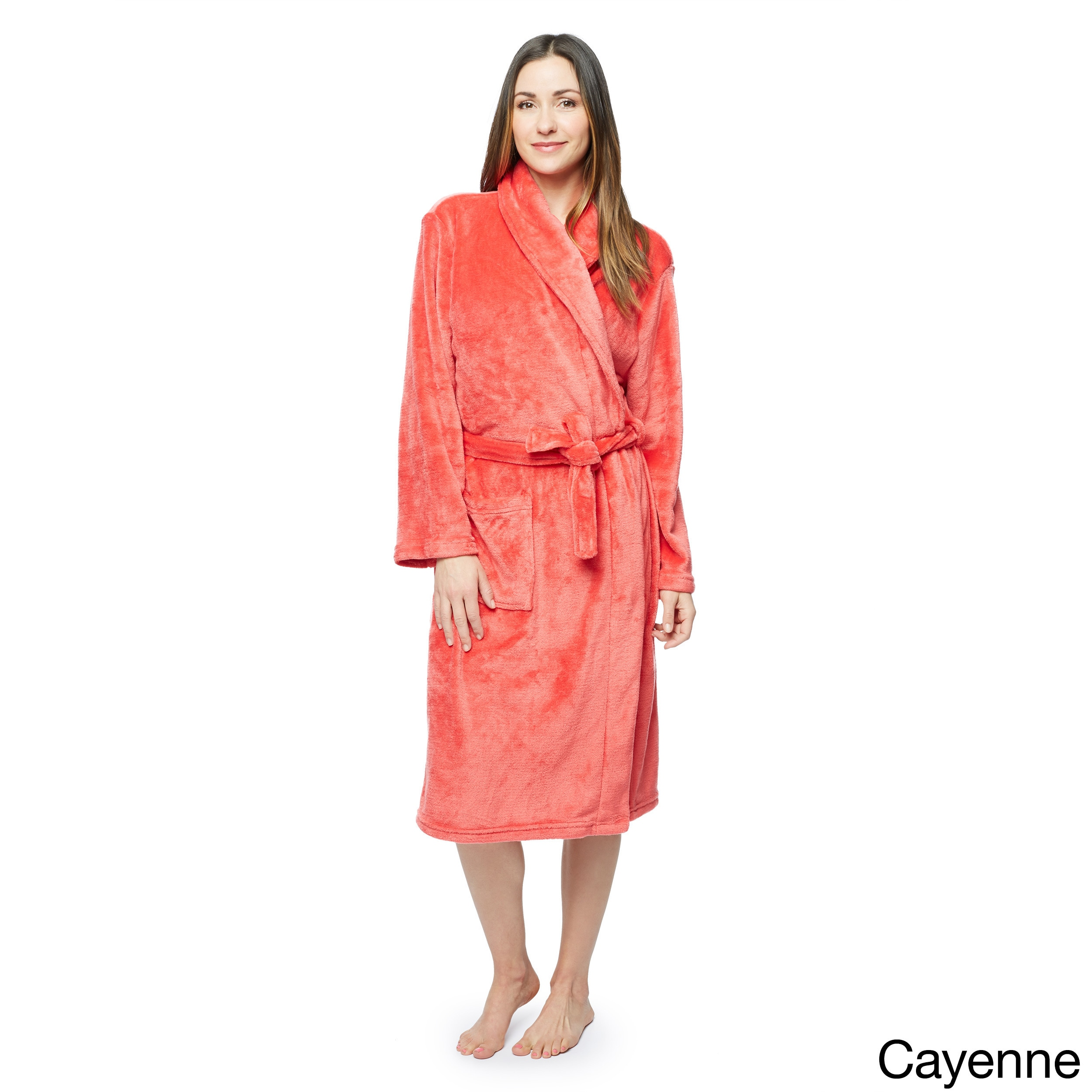9f28f974ed Shop Touch of Class Microplush Bath Robe - Free Shipping On Orders Over  45  - Overstock - 3978421
