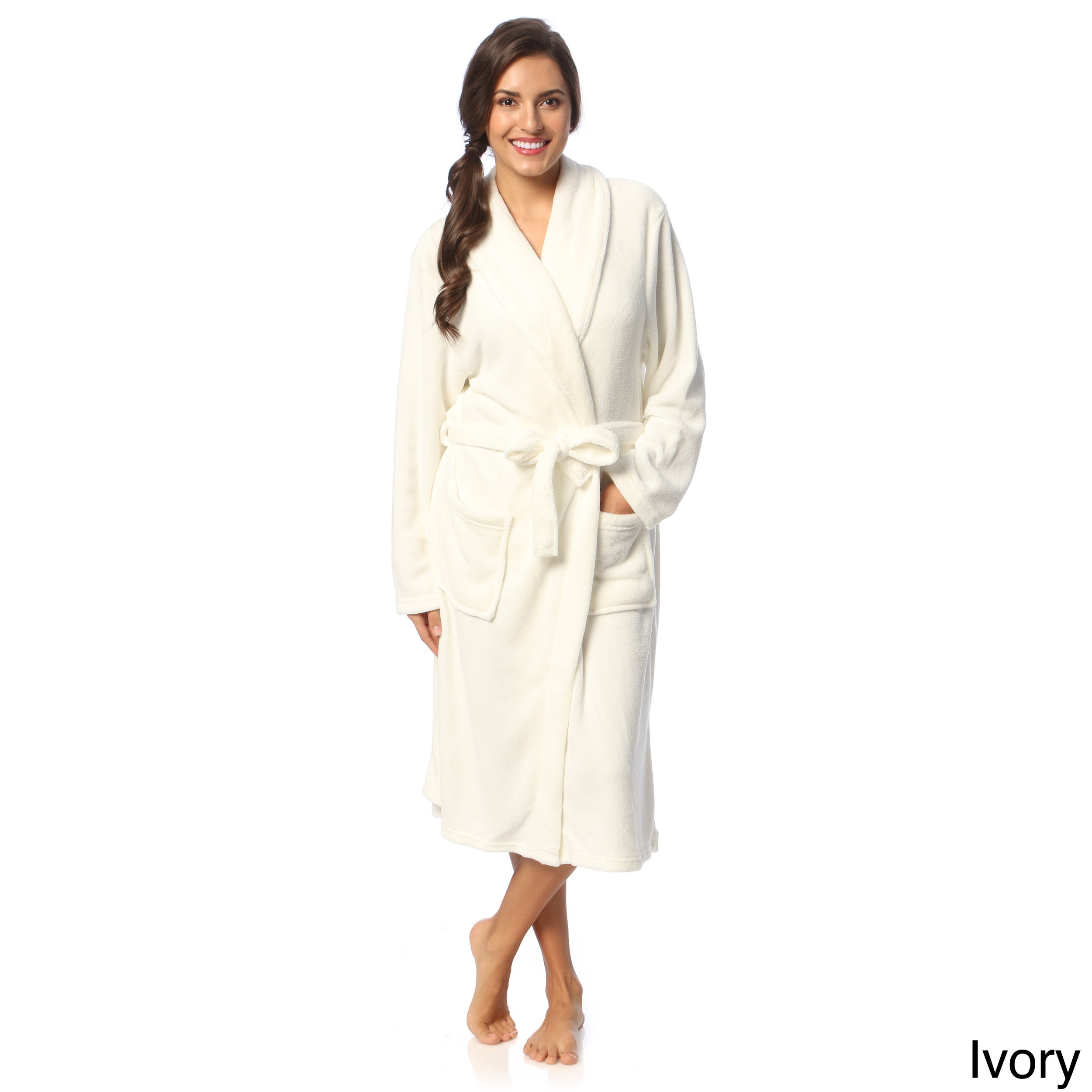 Shop Touch of Class Microplush Bath Robe - Free Shipping On Orders Over  45  - Overstock - 3978421 bf8365e82