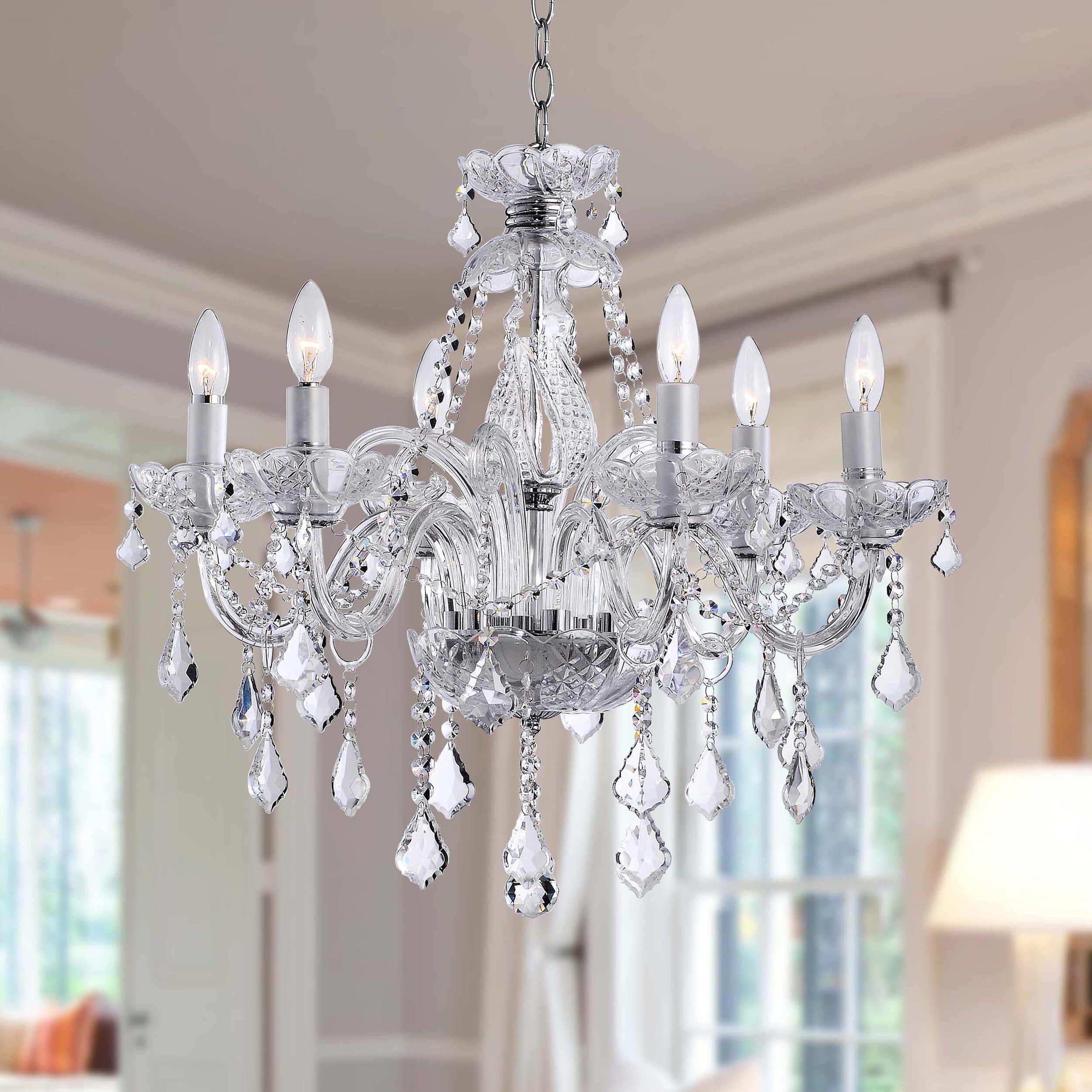 Shop Maria Theresa 6 light Crystal Chandelier