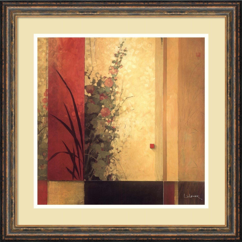 Shop Framed Art Print \'Hollyhock Garden\' by Don Li-Leger 21 x 21 ...