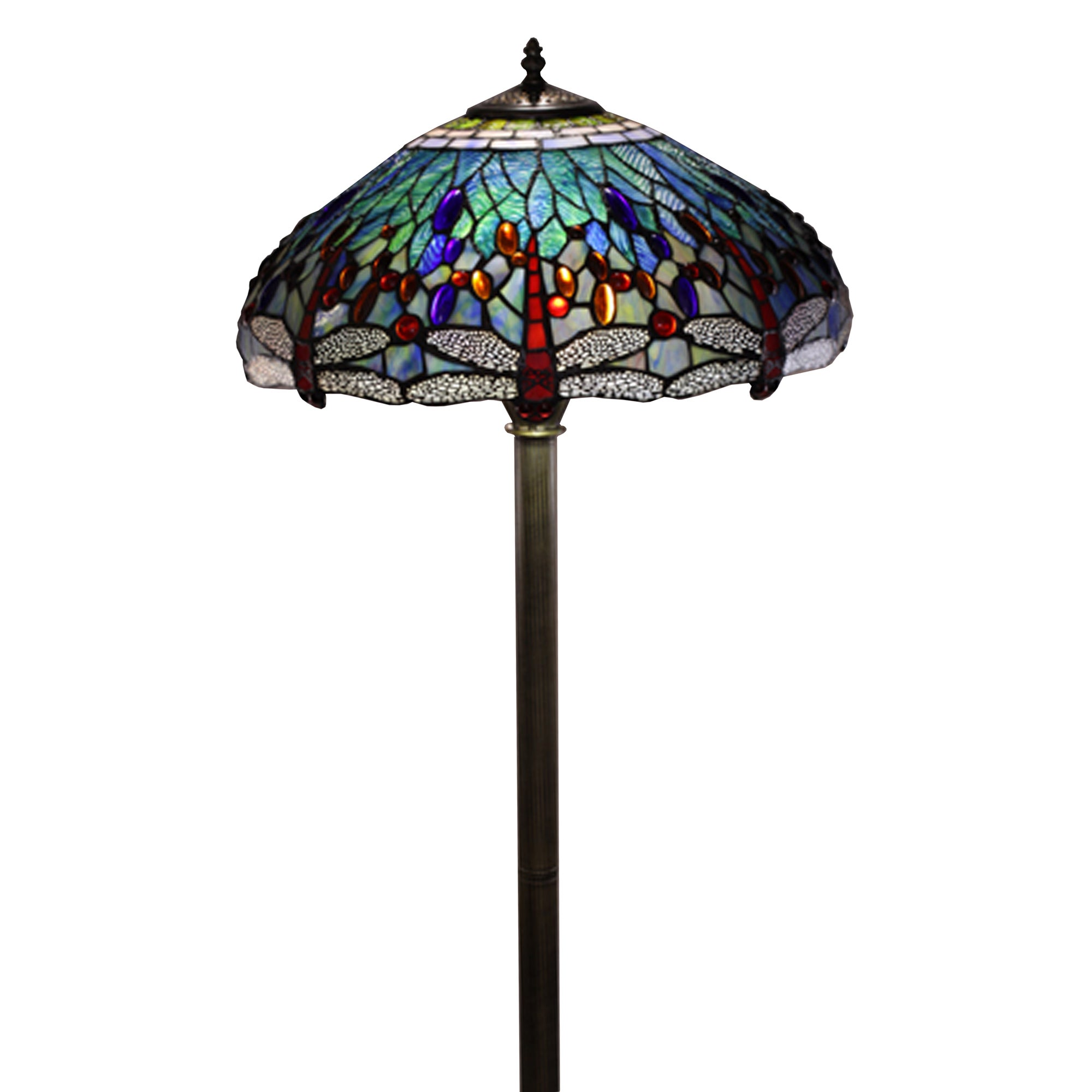 Charmant Shop Tiffany Style Dragonfly Floor Lamp   Free Shipping Today    Overstock.com   4047883
