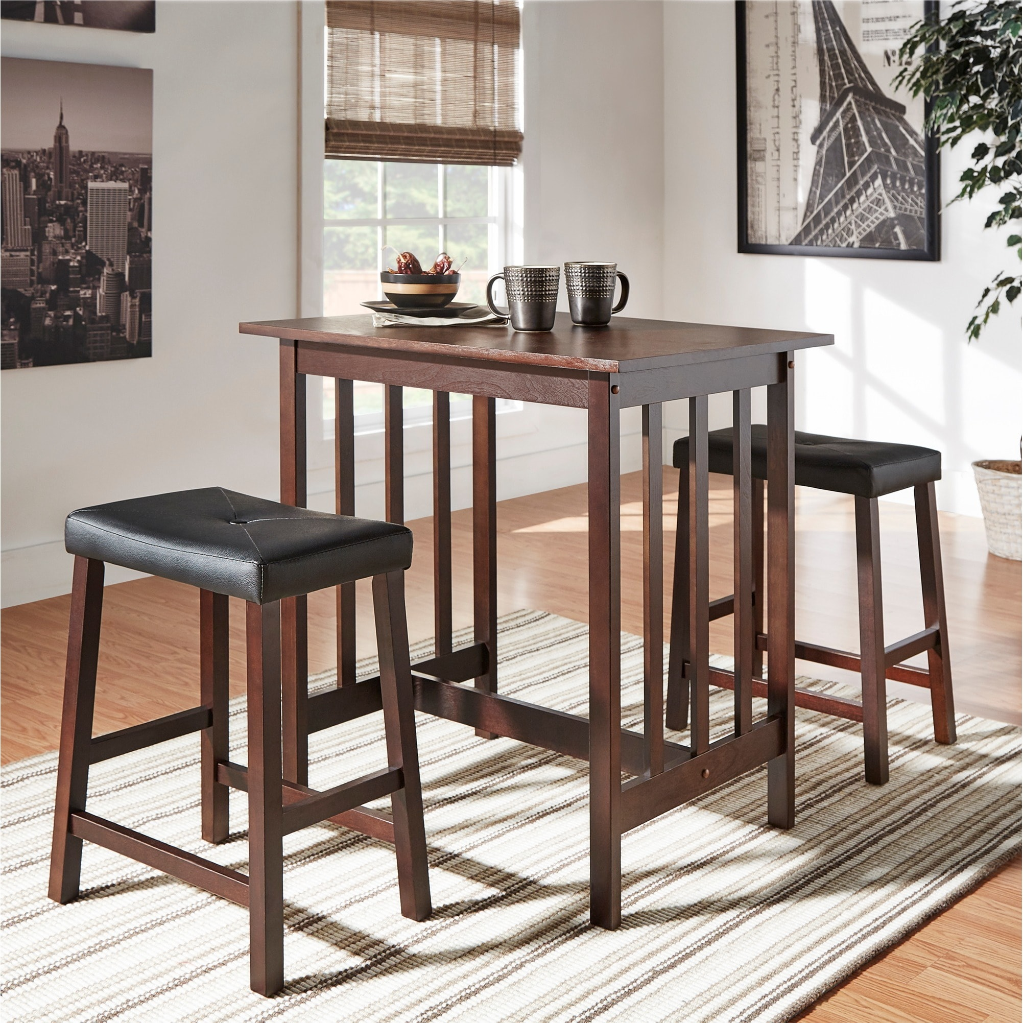 Shop Nova 3 Piece Kitchen Counter Height Dinette Set By INSPIRE Q Classic    On Sale   Free Shipping Today   Overstock.com   4063947
