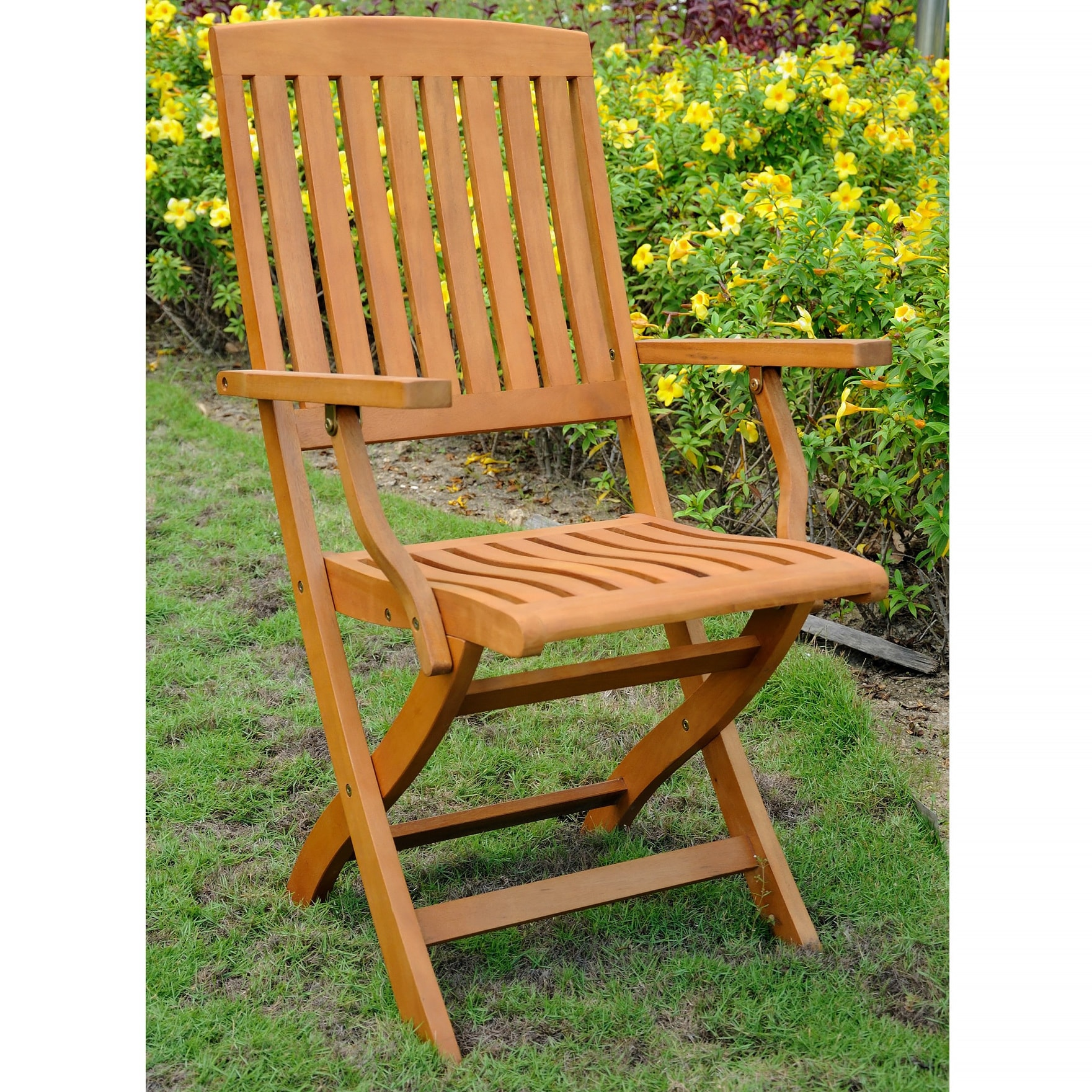 International Caravan Royal Tahiti Patio Dining Chair Set of 2