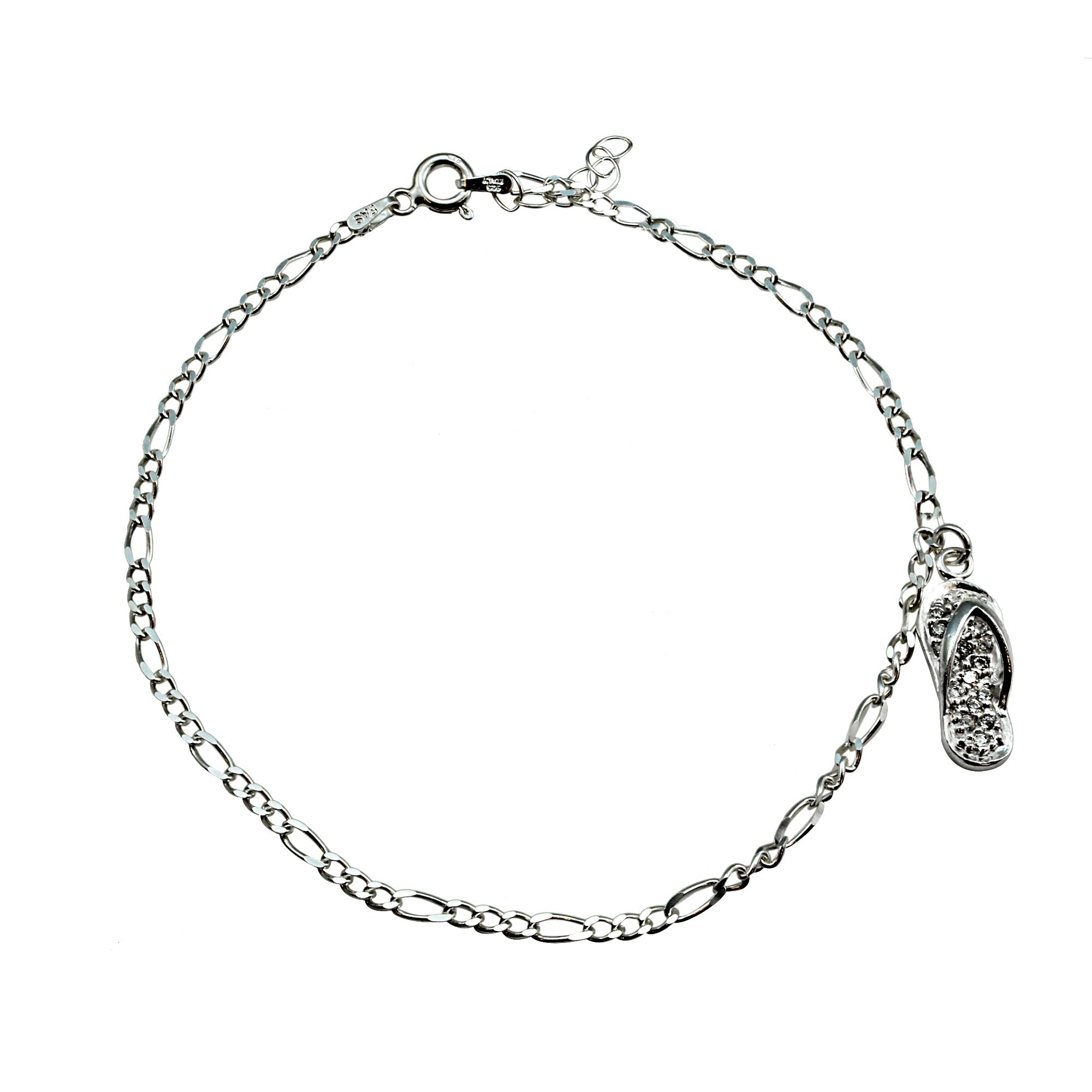 cable adorable blk products chain silver anklet to hang with bracelet rnd zirconia dangle ca sterling your mini aeravida details link perfect cubic cz the black finish that outfit crafted cute is accents on anklets this