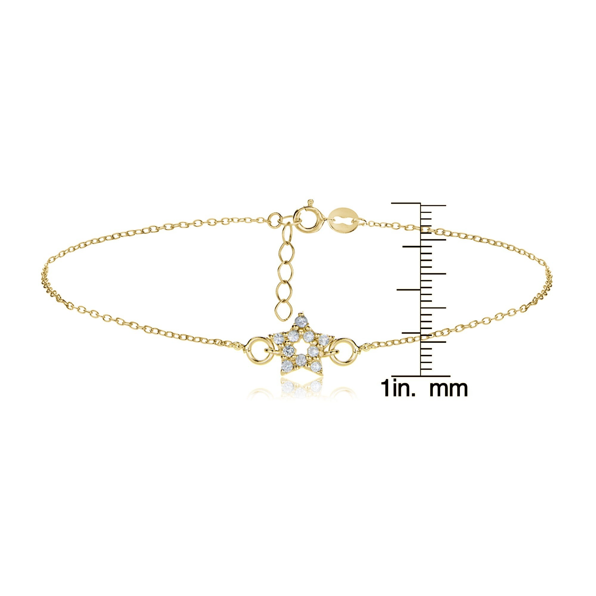 double anklet figaro at detail palmbeach jewelry link cfm d heart gold products i
