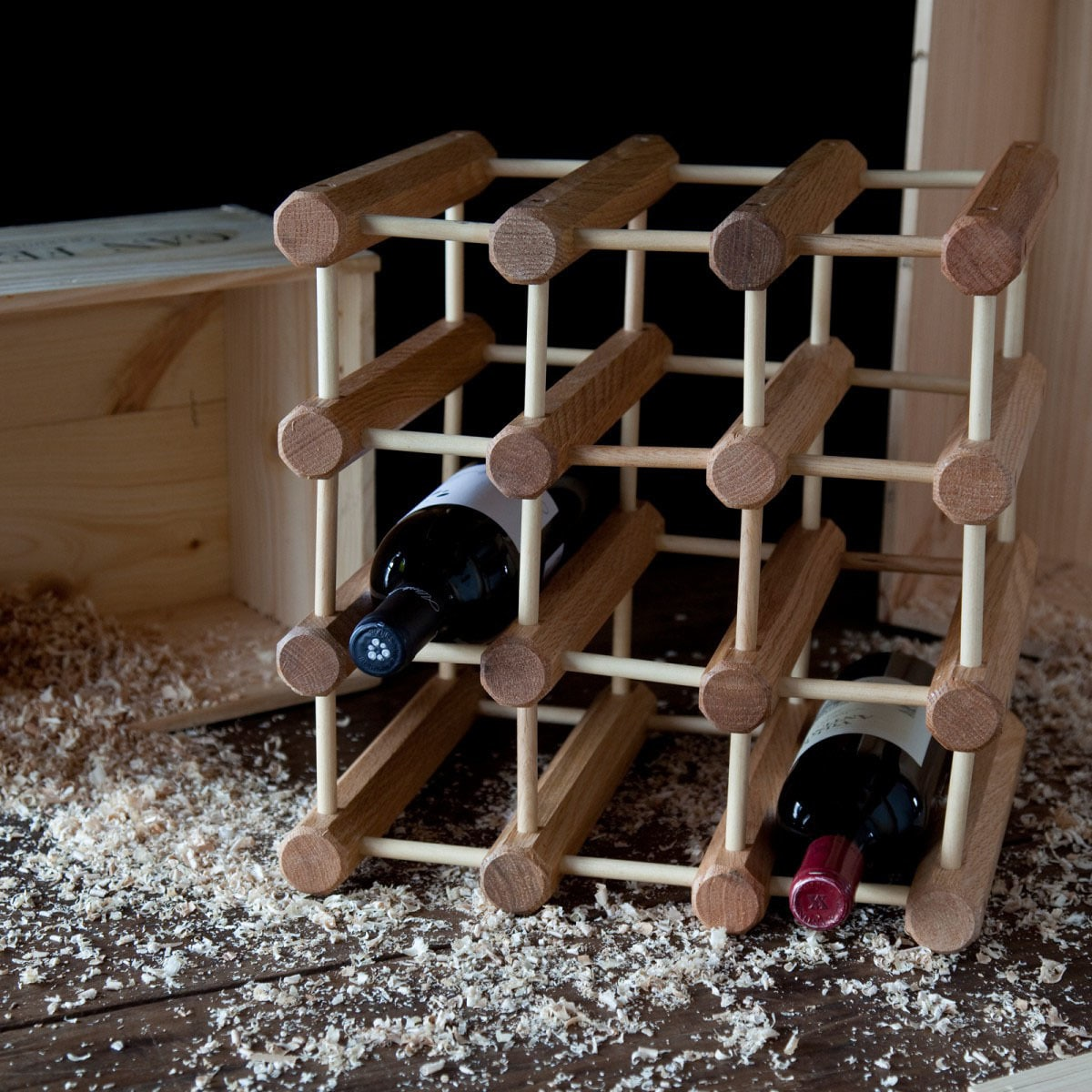 wood ebay solid stackable itm homcom racks rack bottle holder wine cube storage