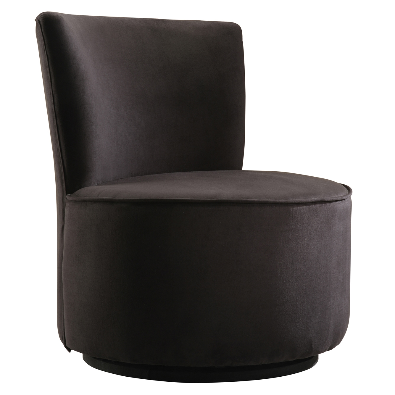 Tribecca Home Moda Black Microfiber Modern Round Swivel Chair Free Shipping Today 4100292