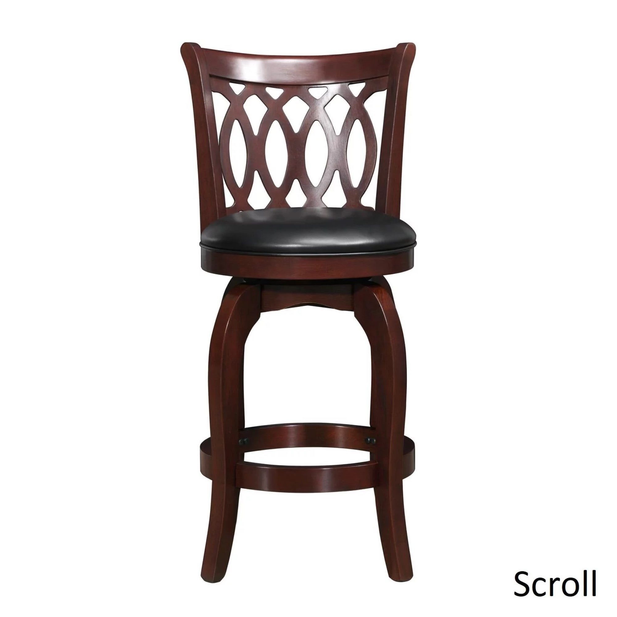 Verona Cherry Swivel 24 Inch High Back Counter Height Stool By Inspire Q Clic On Free Shipping Today 4101670