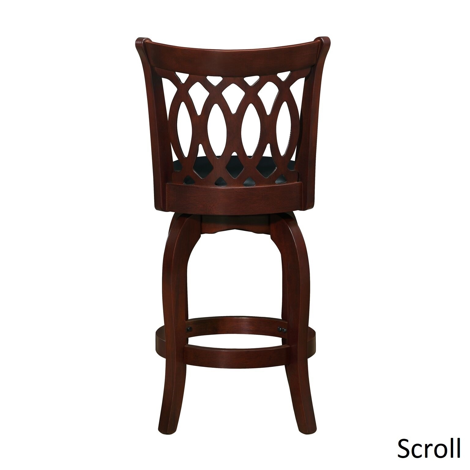 Shop Verona Cherry Swivel 24-inch High Back Counter Height Stool by ...