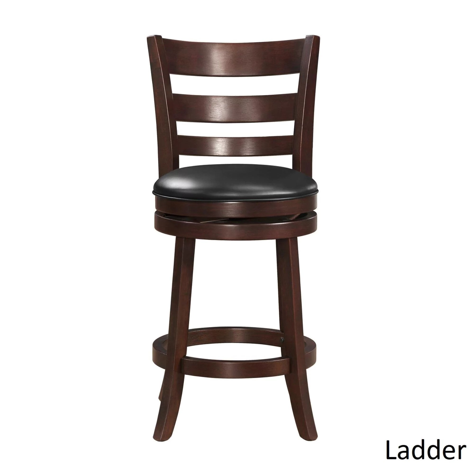 Verona Cherry Swivel 24 Inch High Back Counter Height Stool By Inspire Q Clic Free Shipping Today 4101670
