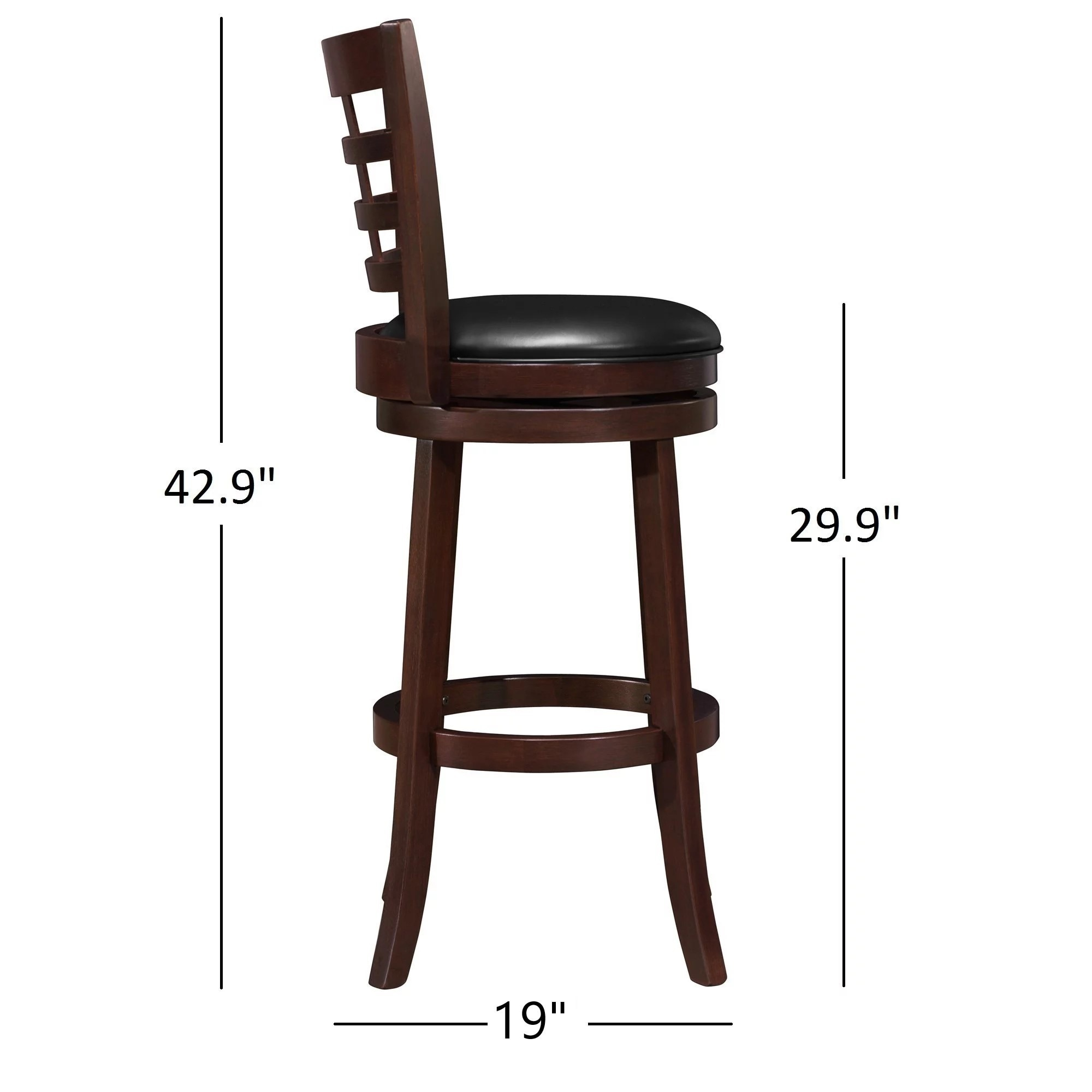 Verona Cherry Swivel 29 Inch High Back Barstool By Inspire Q Clic Free Shipping Today 4101671