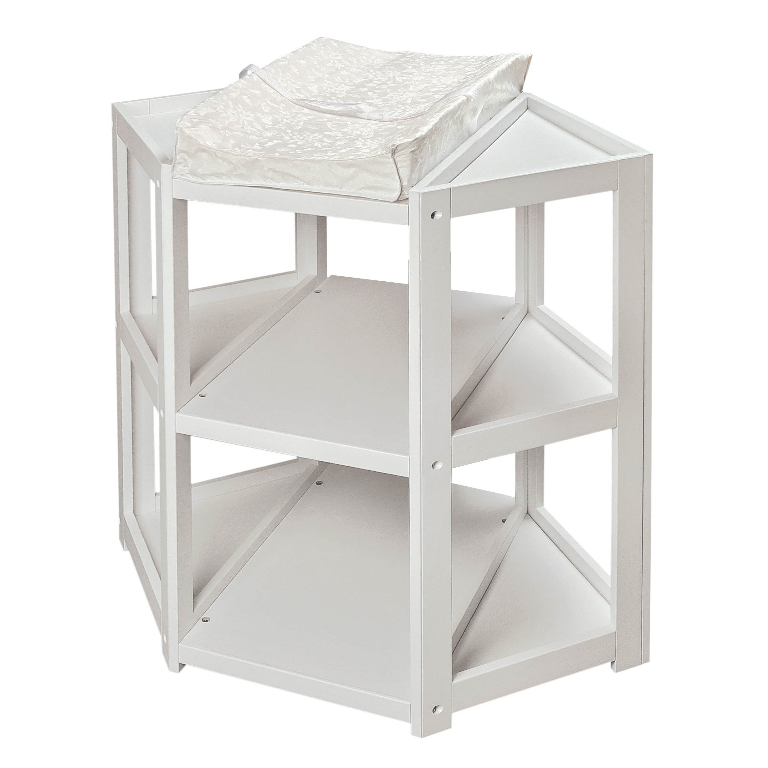 Shop Badger Basket Diaper Corner Baby Changing Table   Free Shipping Today    Overstock   4104019