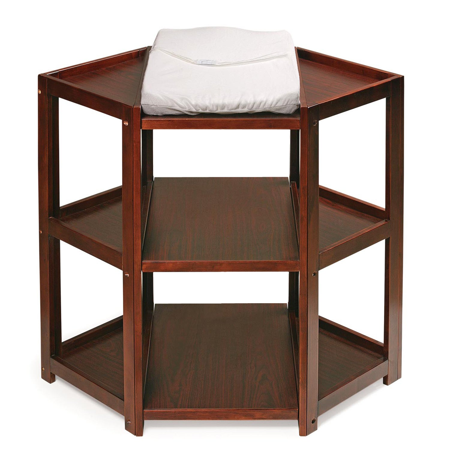 Badger Basket Cherry Diaper Corner Changing Table - Free Shipping Today -  Overstock.com - 12114167