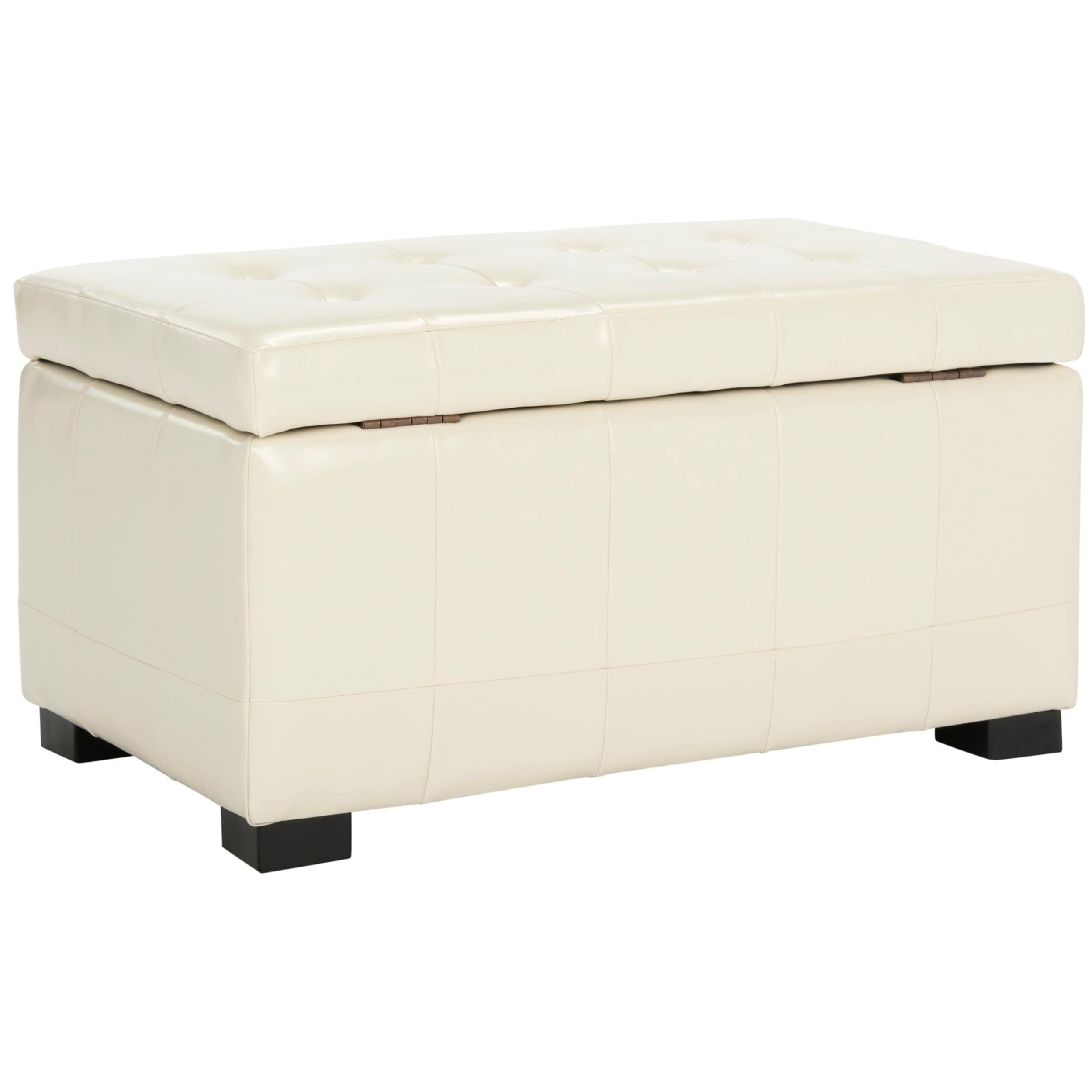 Safavieh Manhattan Off White Small Storage Bench Free Shipping Today 4107308