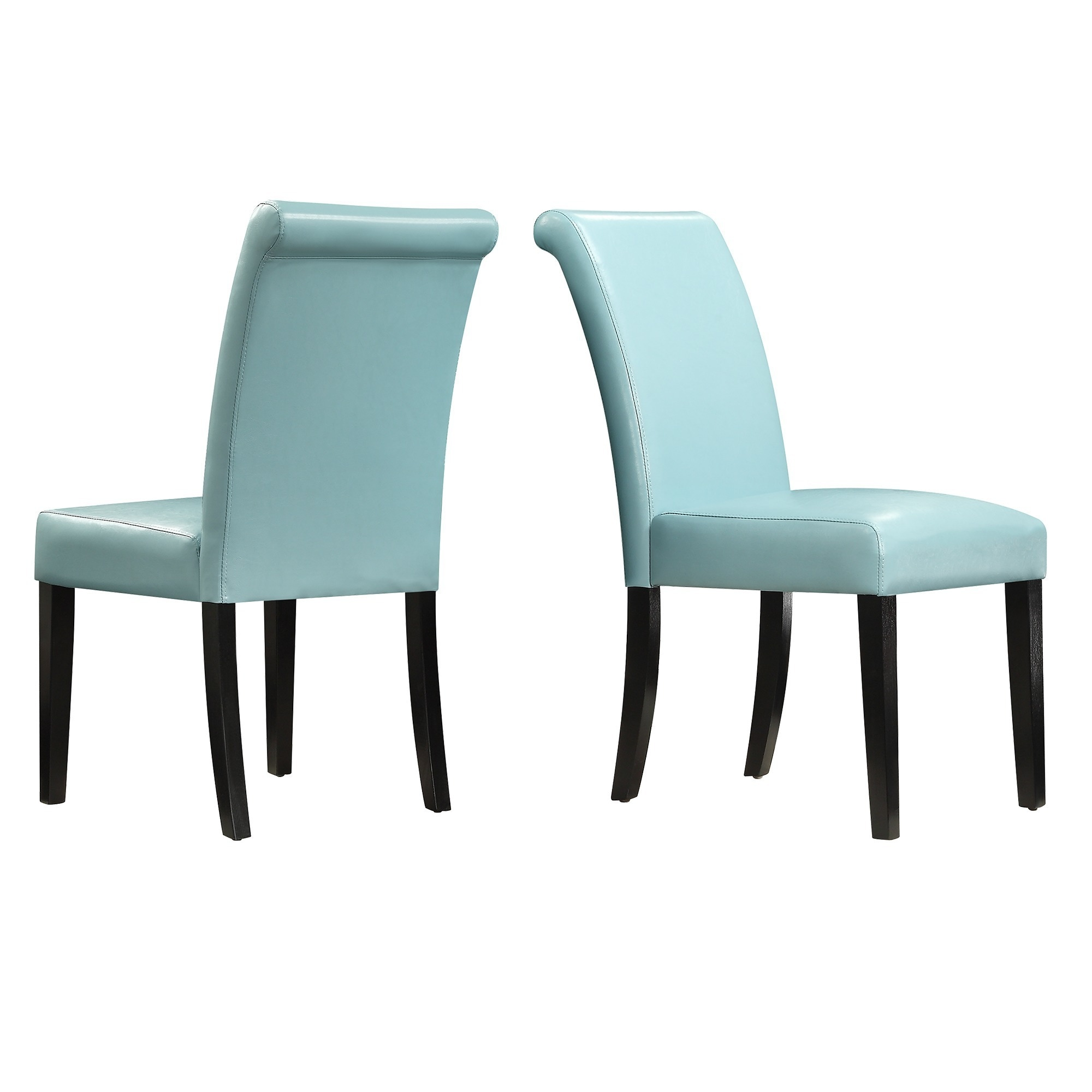 Dorian Faux Leather Upholstered Dining Chair Set of 2 by iNSPIRE Q