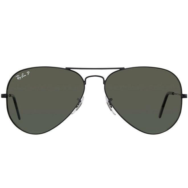 96100ffa4289 Shop Ray-Ban RB3025 Aviator Unisex Emerald Polarized Lens Sunglasses - Free  Shipping Today - Overstock - 4120829