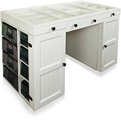shop ez view white craft desk free shipping today overstock com rh overstock com kidkraft white desk white craft desks with storage