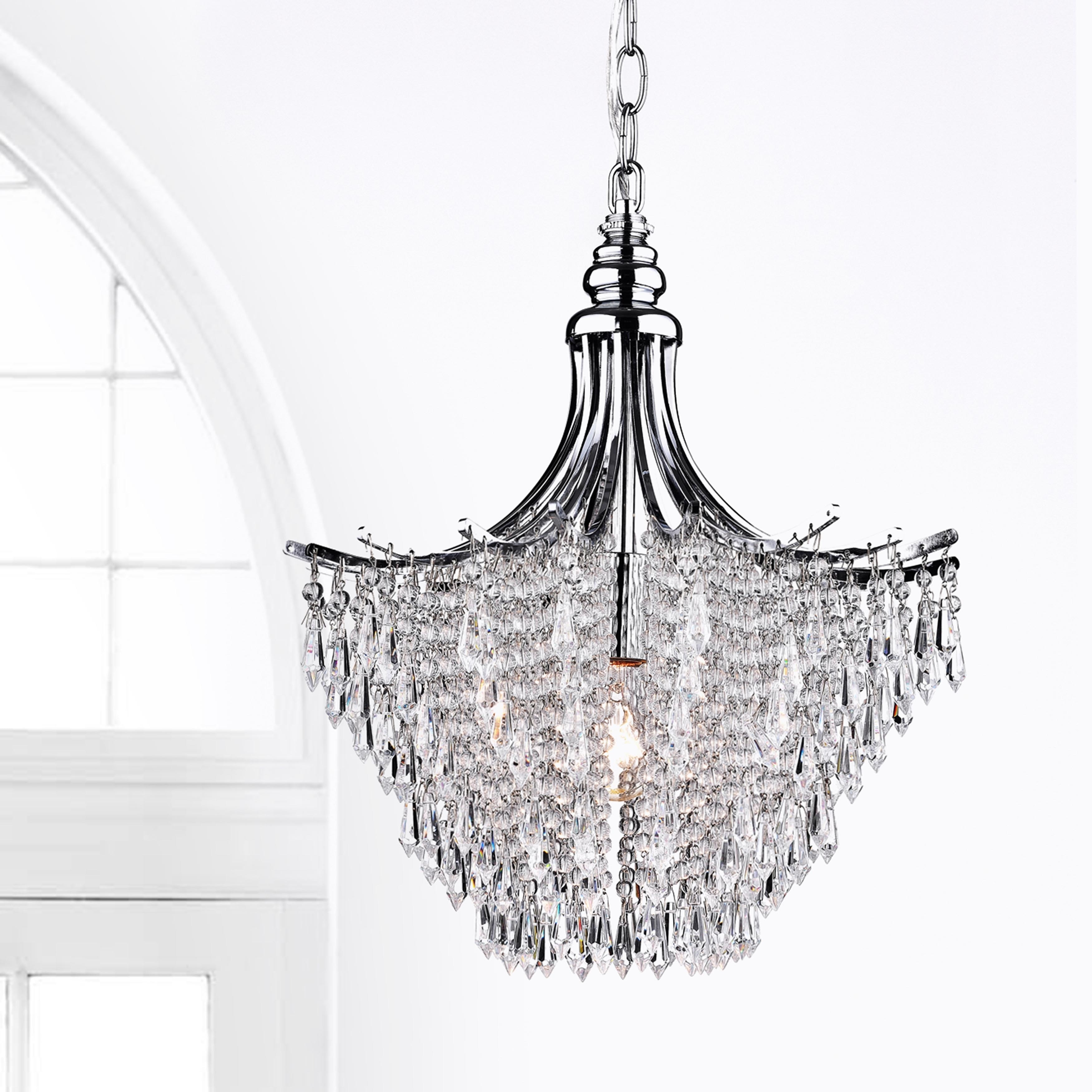 Silver Crystal Chandelier Free Shipping Today Overstock