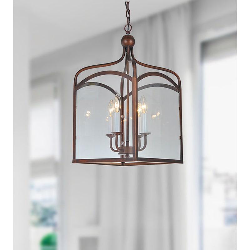 Antiqued copper 4 light lantern chandelier free shipping today antiqued copper 4 light lantern chandelier free shipping today overstock 12133138 aloadofball Gallery