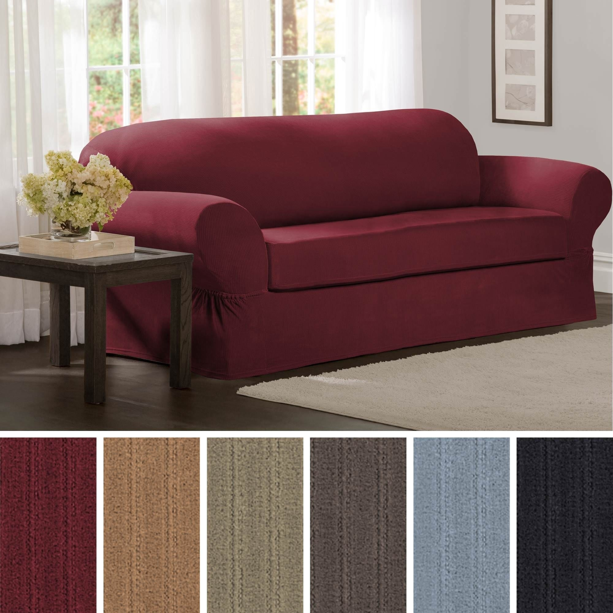 Shop Maytex Collin 2-Piece Sofa Slipcover - 74-96\