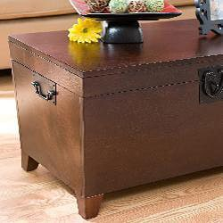 Harper Blvd Pyramid Espresso Trunk Cocktail Table   Free Shipping Today    Overstock.com   12135810