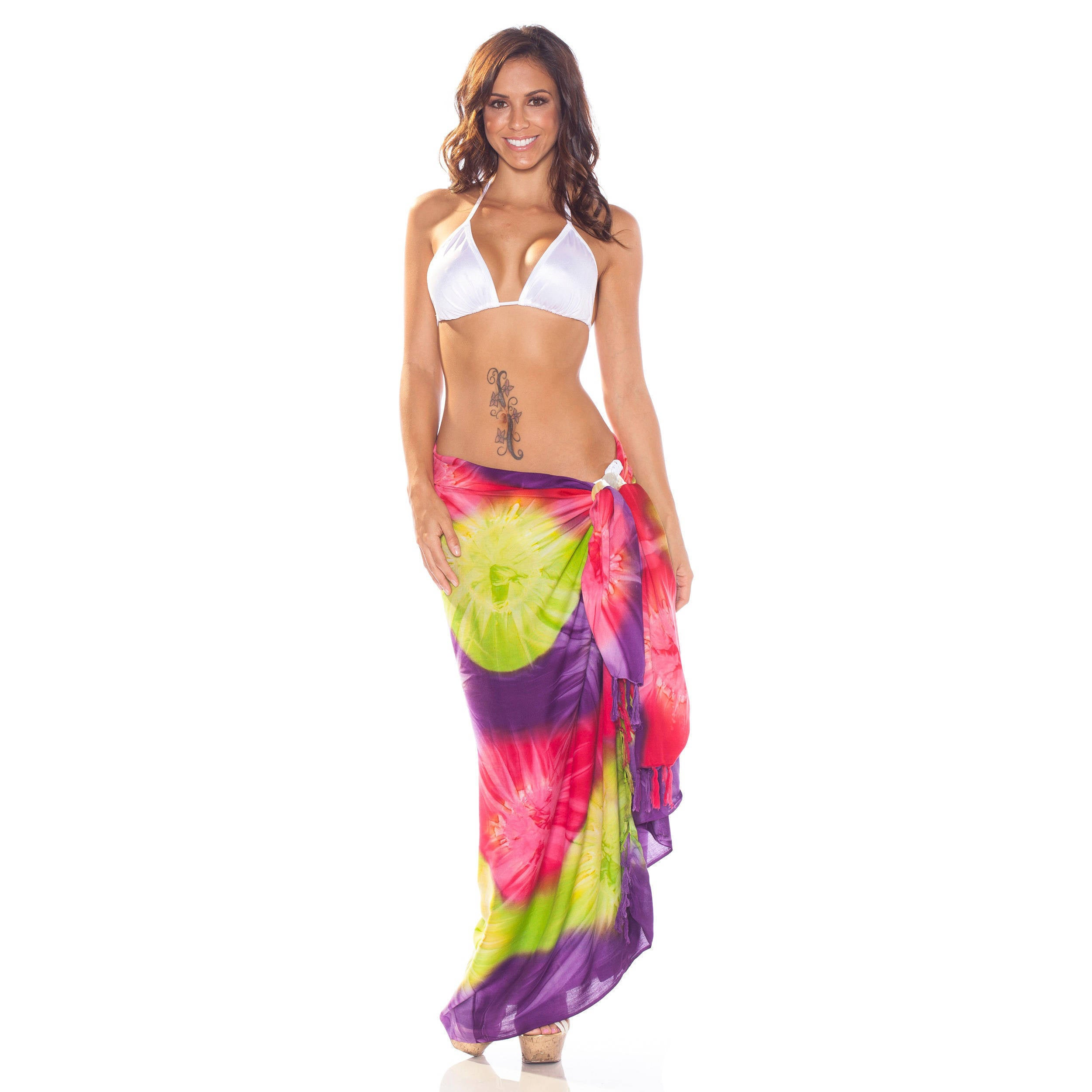 058d0fdac497a Shop Handmade 1 World Sarongs Women s Tie-dye Jungle Sarong (Indonesia) -  Free Shipping On Orders Over  45 - Overstock - 4141642