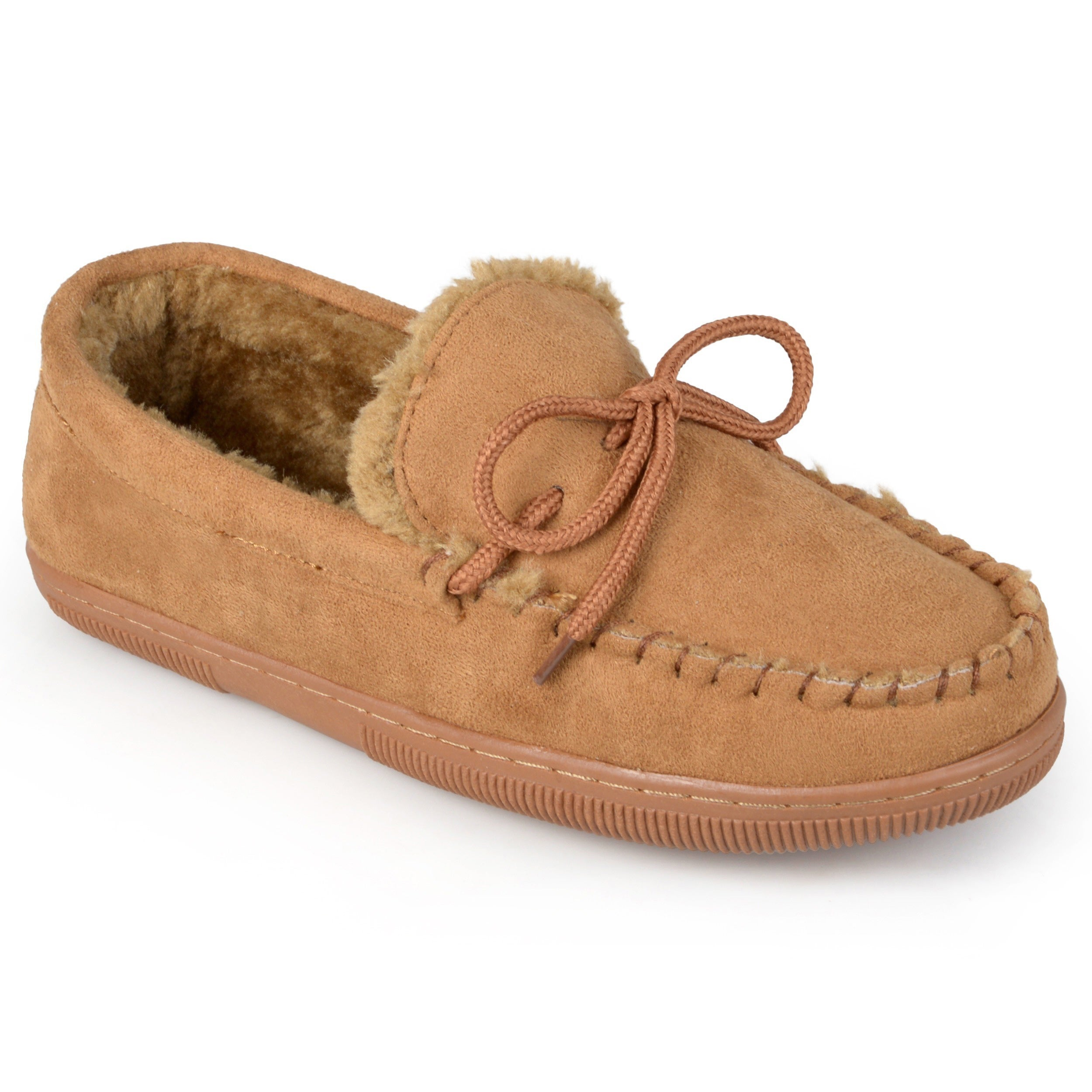 9e5c7faf5 Shop Boston Traveler Men's Suede Moccasin Slippers - Free Shipping ...
