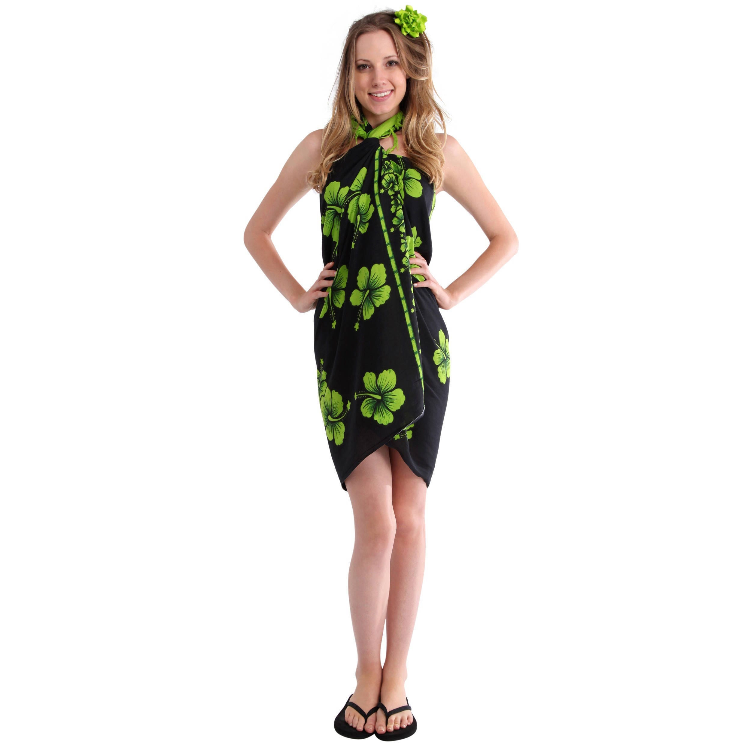 Shop Handmade 1 World Sarongs Womens Batik Hibiscus Sarong Hoc Store French Cuff Indonesia On Sale Free Shipping Orders Over 45 4155218