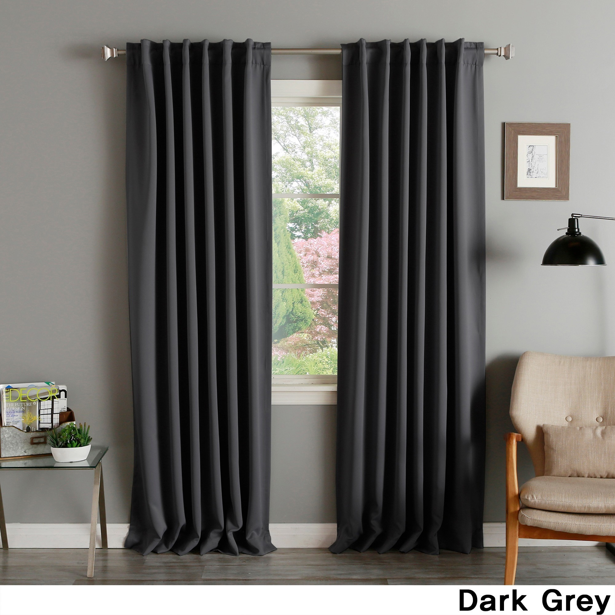 Aurora Home Solid Thermal Insulated 108 Inch Blackout Curtain Panel Pair 52 X 108 52 X 108 On Sale Overstock 4224348