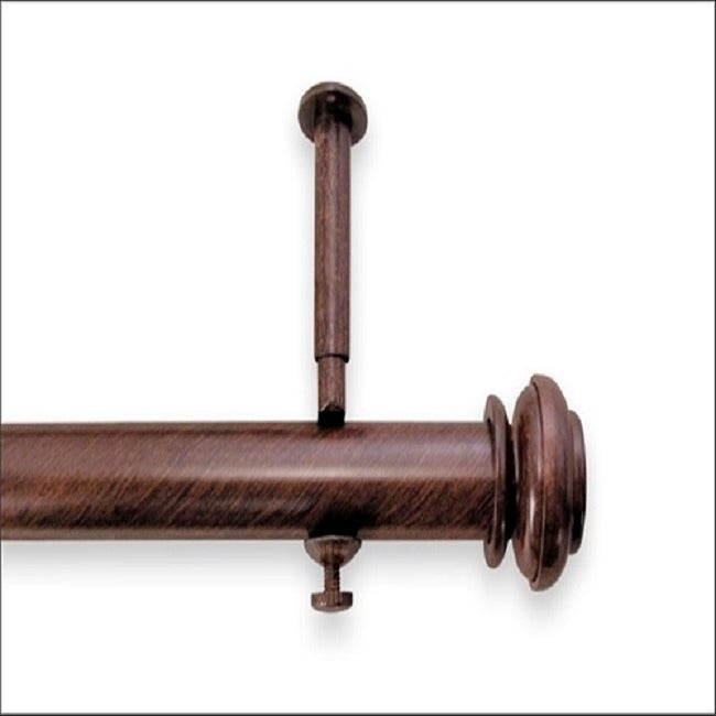 Bold Pole 90 To 144 Inch Adjule Curtain Rod Set Free Shipping Today 4224989