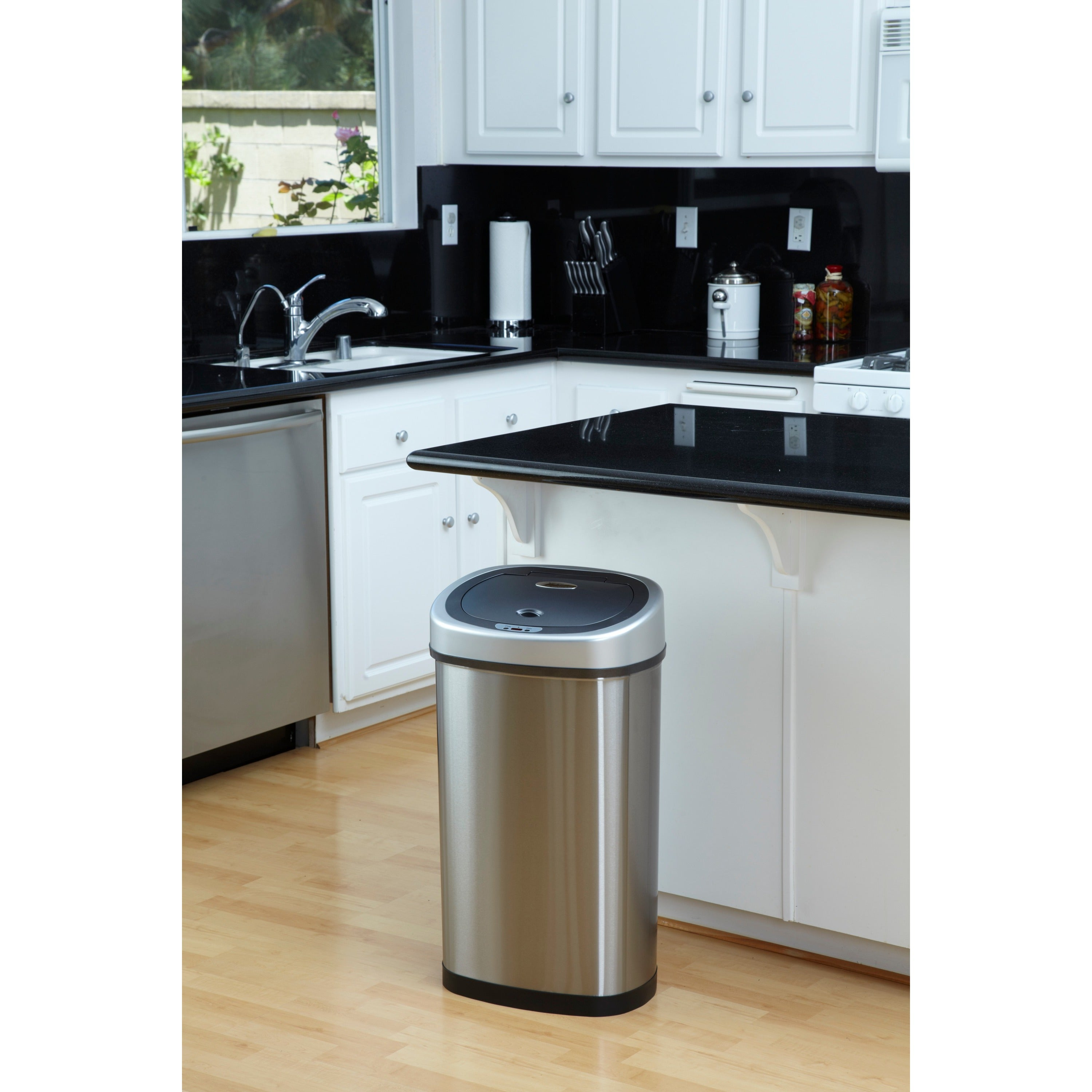 Motion Sensor Stainless Steel 2 In 1 Combo Bathroom/ Kitchen Trash Can Set    Free Shipping Today   Overstock.com   12219537