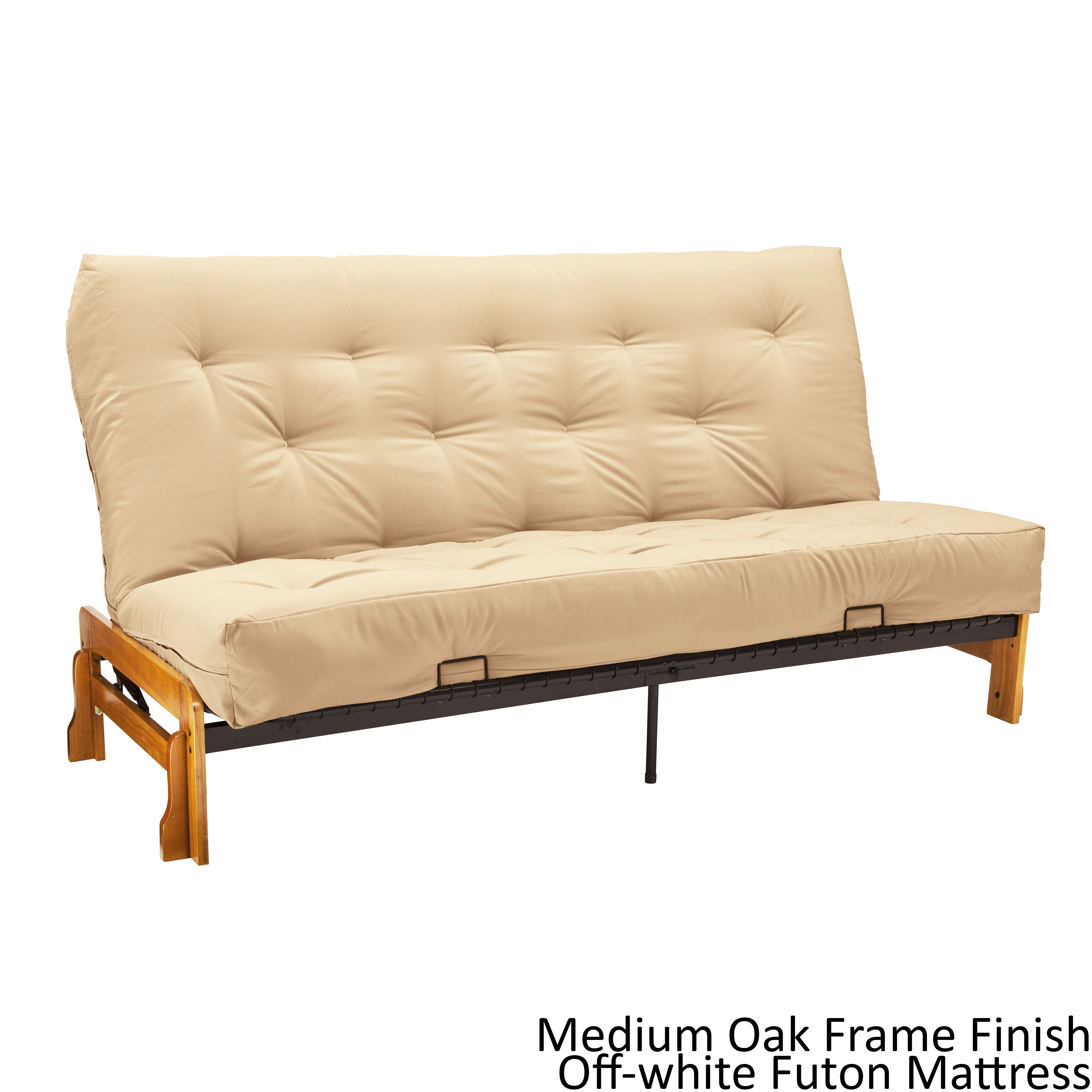 Boston Queen Armless Futon Frame Premier Mattress Set Sleeper Bed