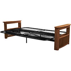 Columbus Queen Or Full Size Storage Arm Futon Frame On Free Shipping Today 4231873