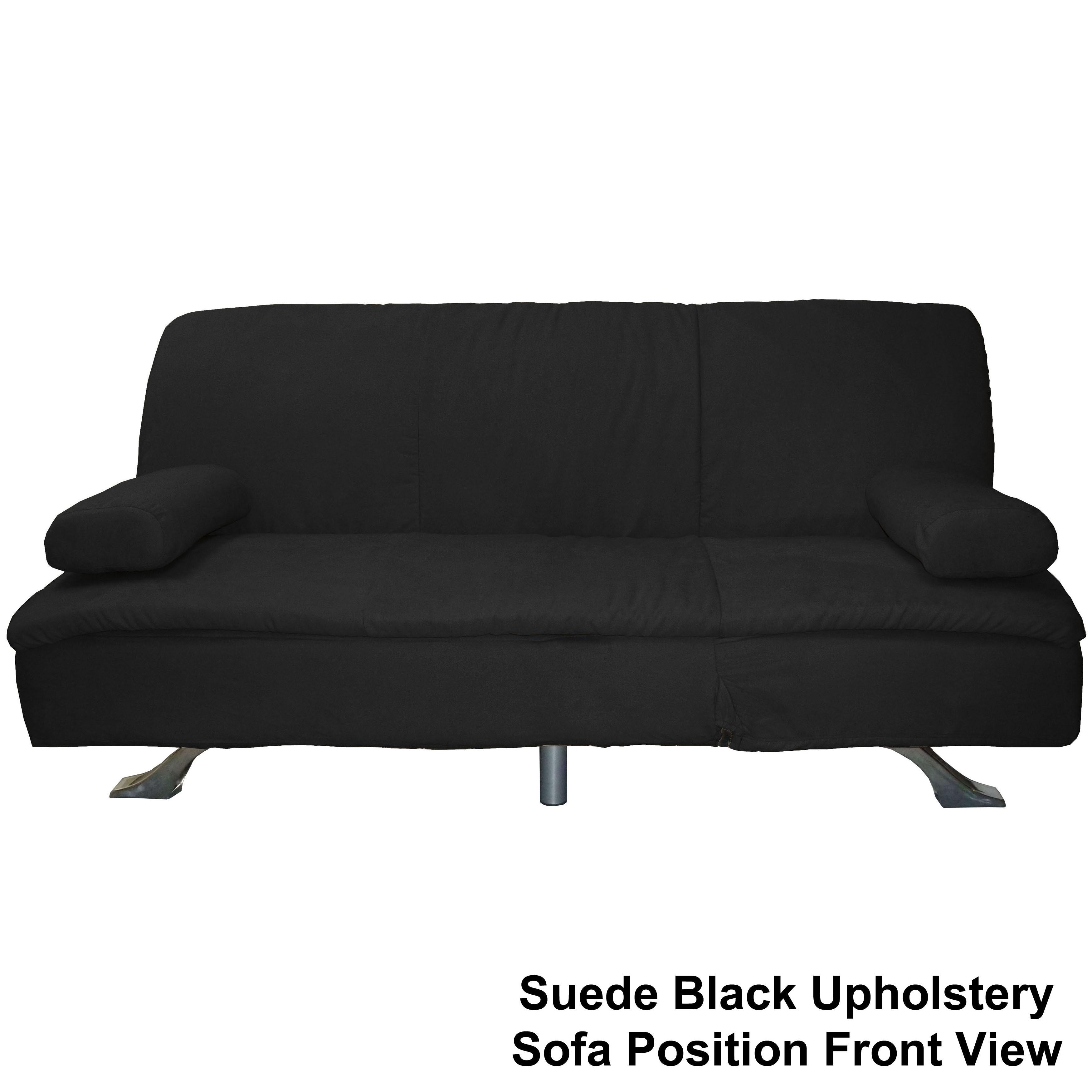 Mystic Microfiber Suede Click Clack Futon Sofa Bed Free Shipping Today Com 4232499