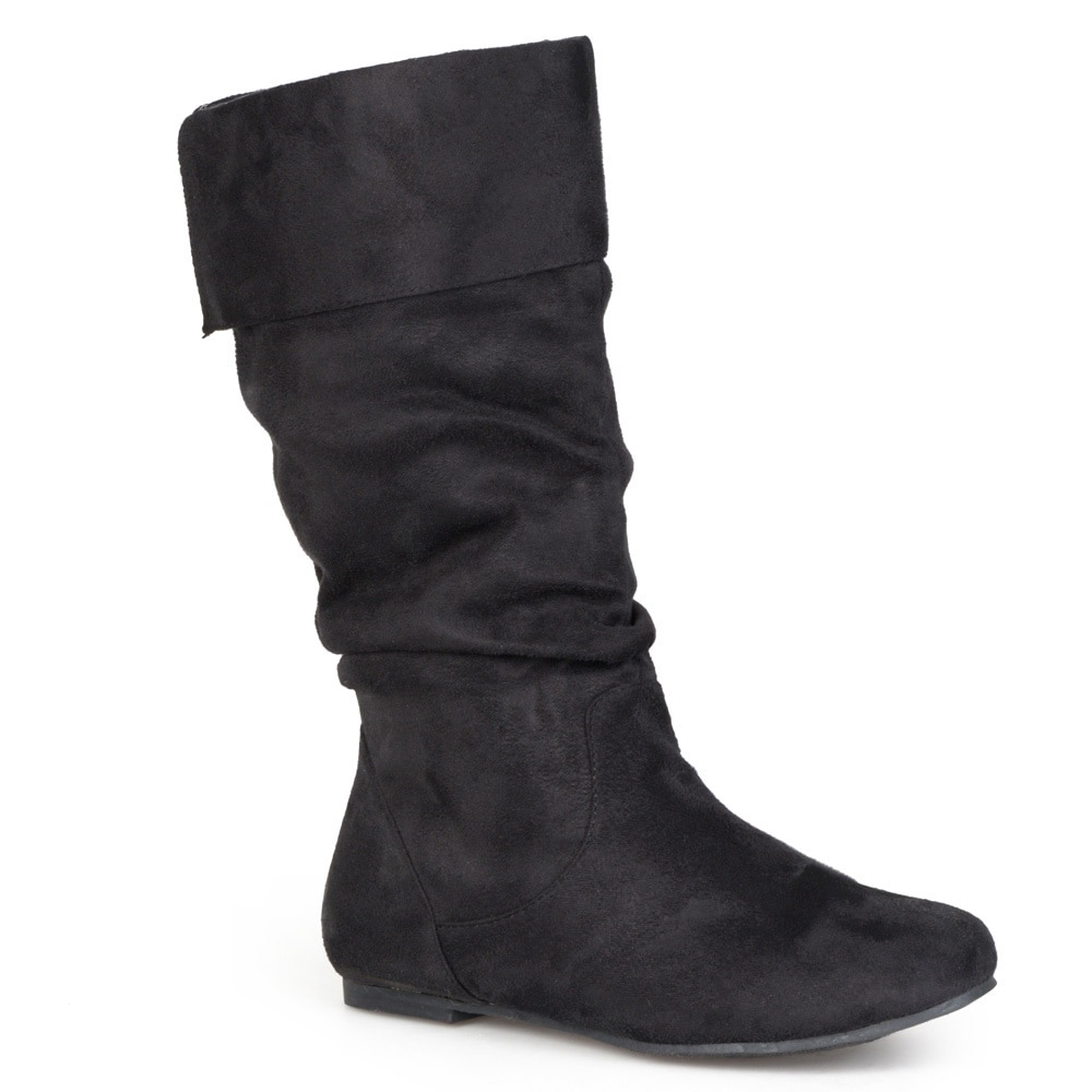 eb7a4ddb426ed Shop Journee Collection Women s  Shelley-3  Slouch Mid-Calf Microsuede Boot  - Free Shipping On Orders Over  45 - Overstock - 4233538