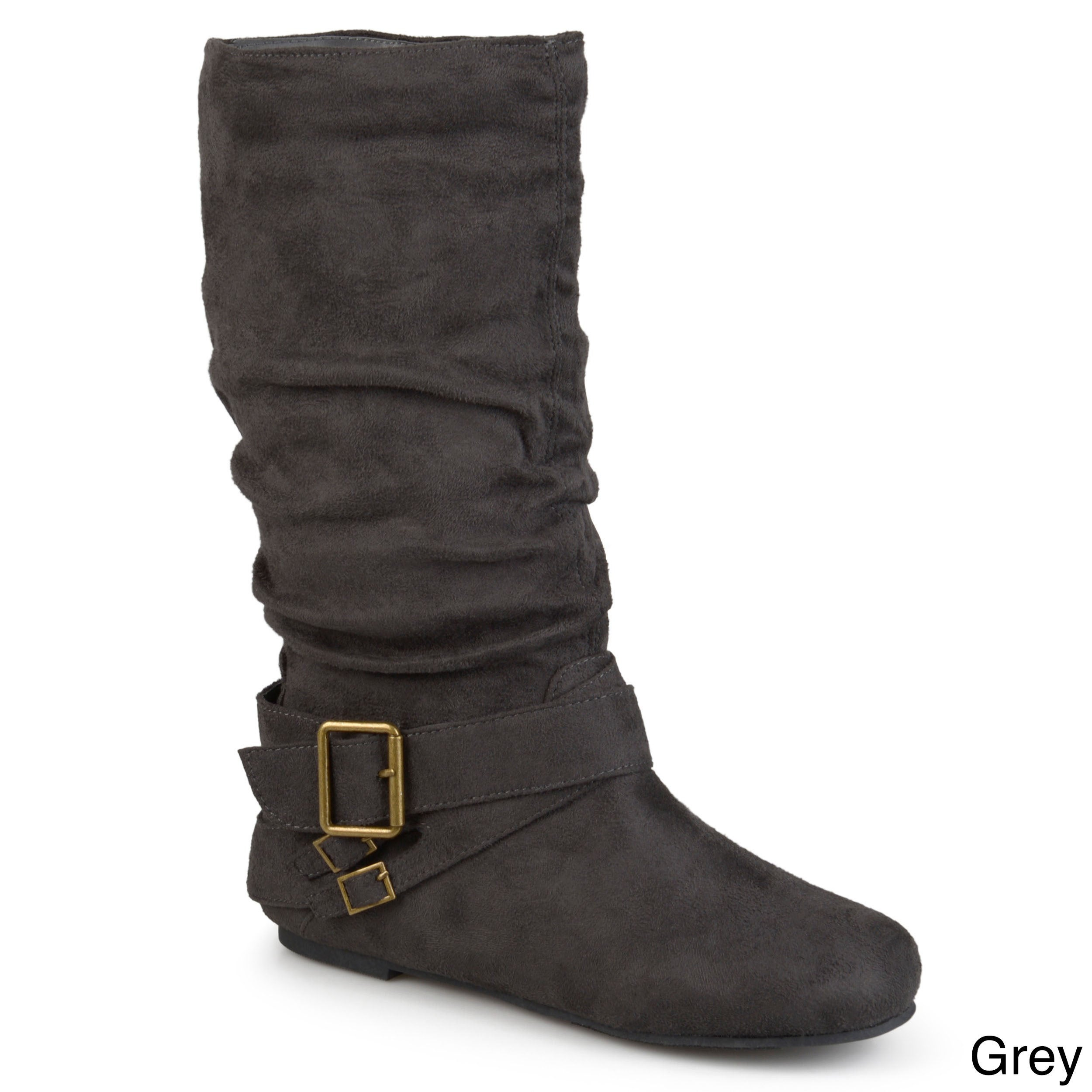 ba8b16aa8a7 Journee Collection Women s  Shelley-6  Regular and Wide-calf Buckle Slouch  Boot