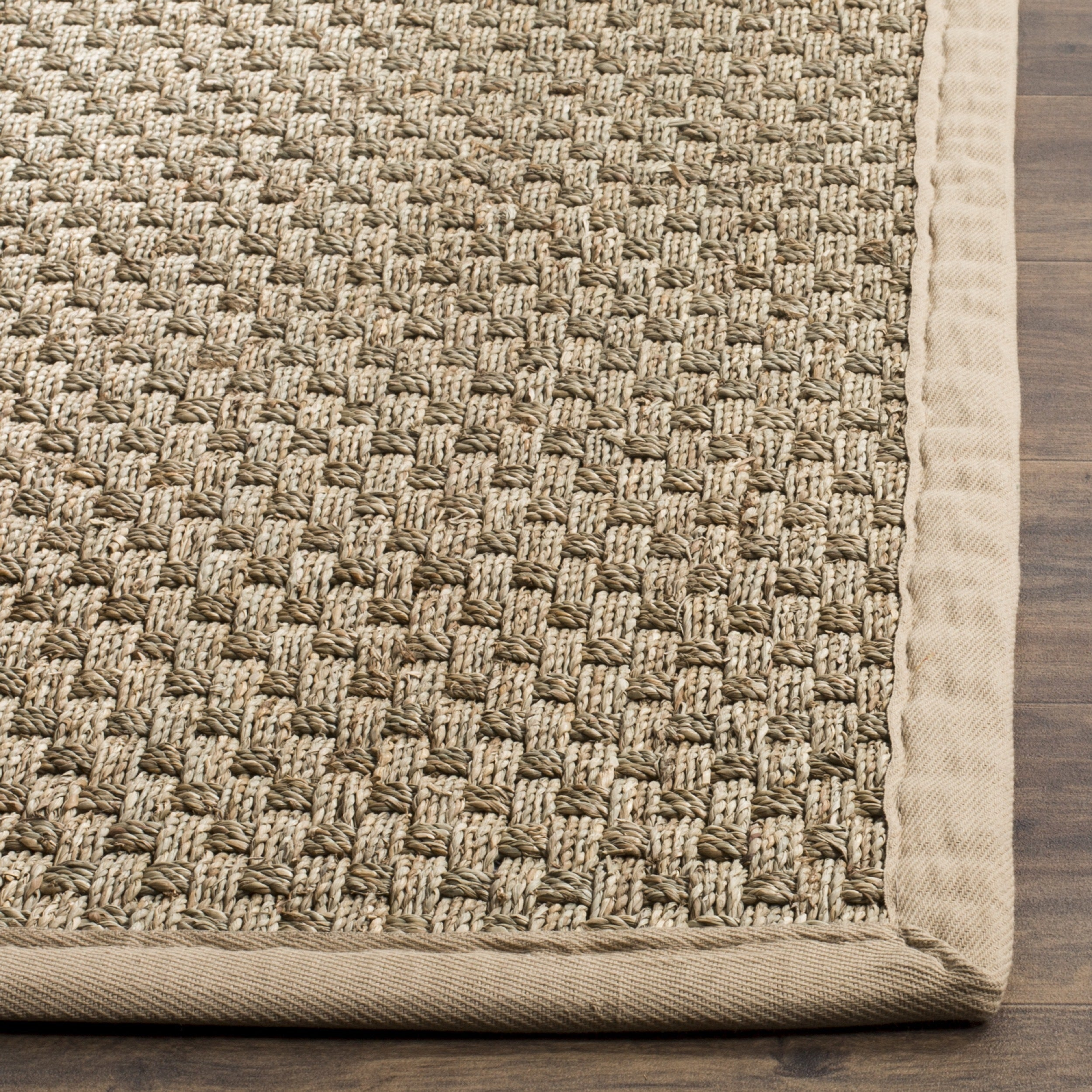Safavieh Casual Natural Fiber And Beige Border Seagr Rug 4 X 6 On Free Shipping Today 4256747