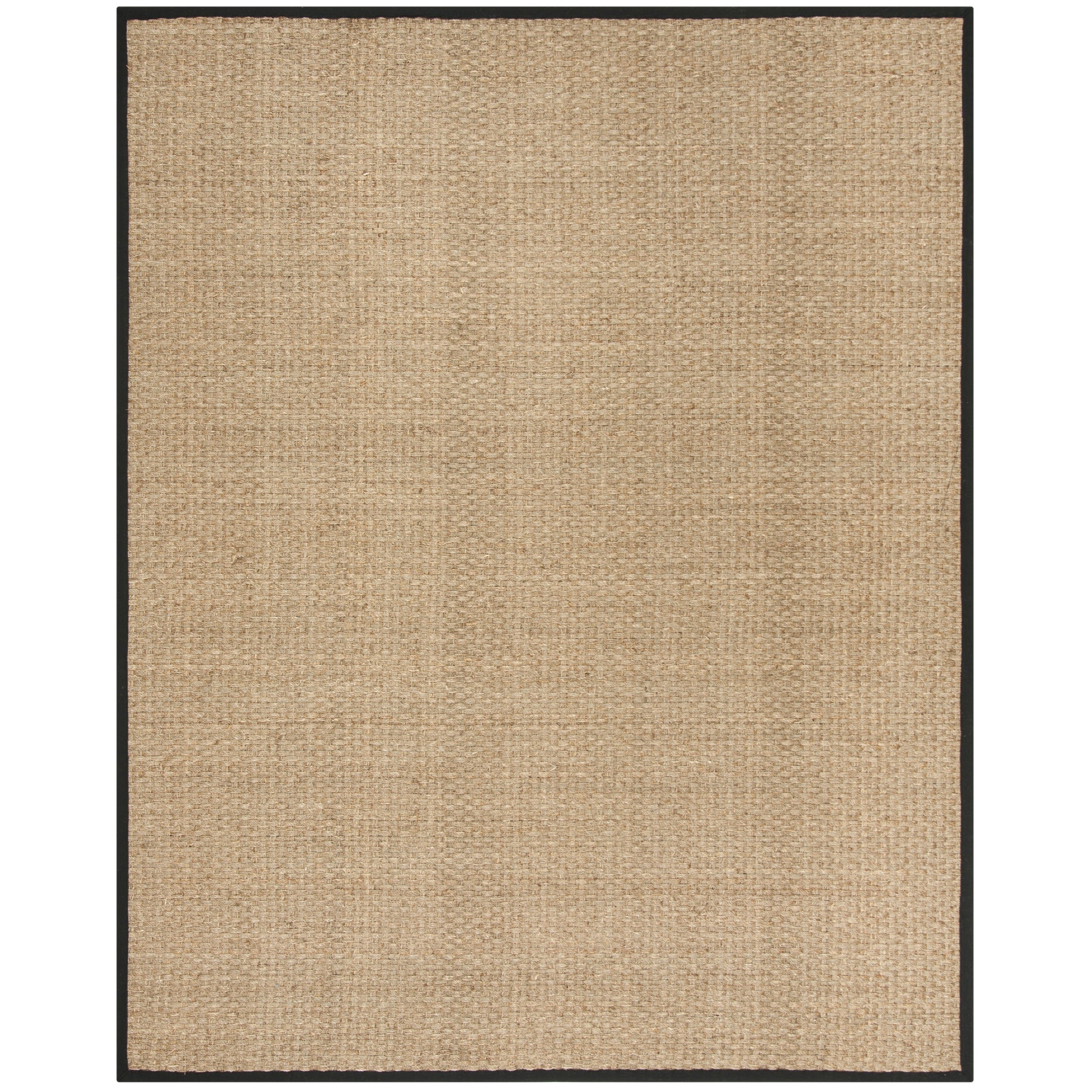 Safavieh Casual Natural Fiber And Black Border Seagrass Rug 8 X 10