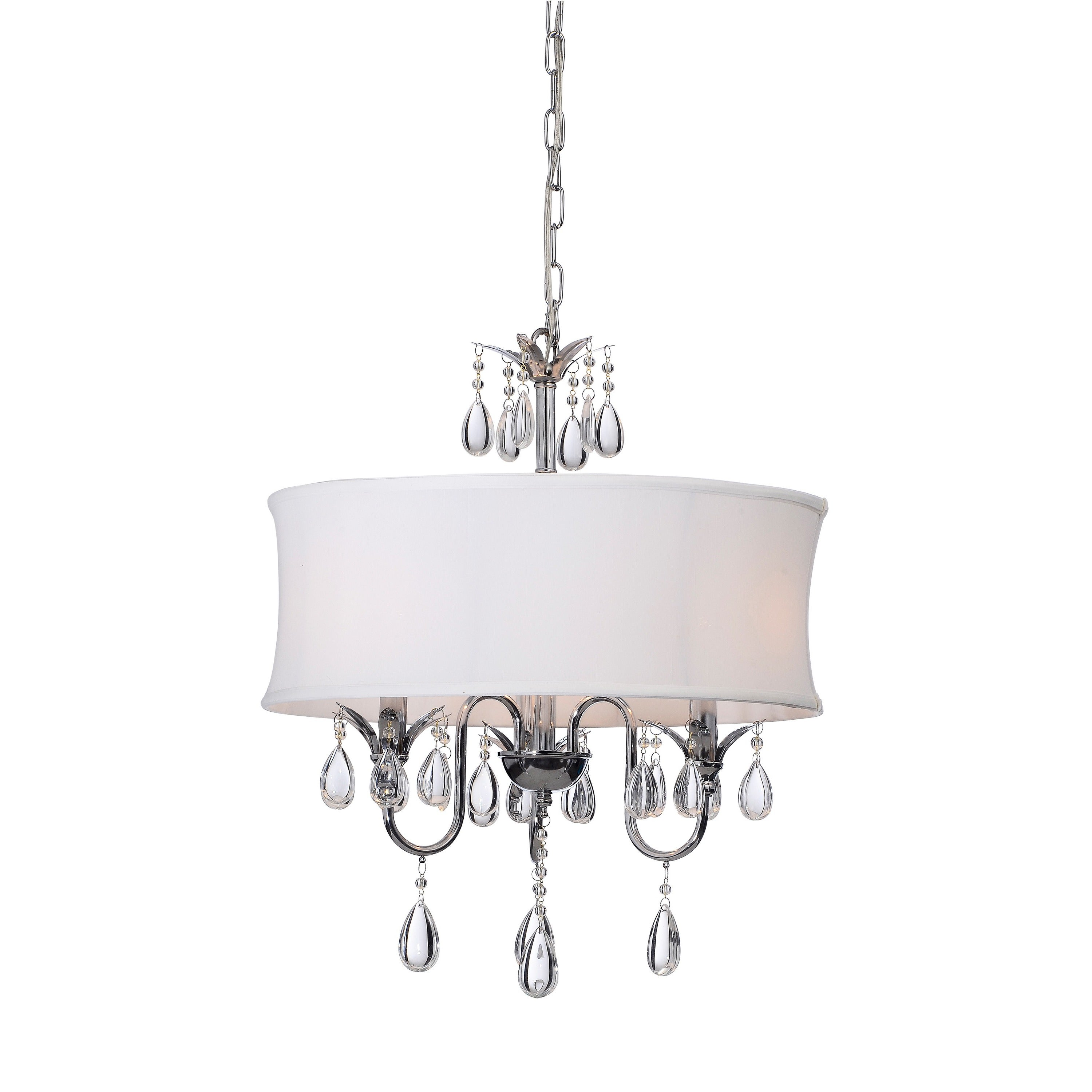 Crystal chrome 3 light chandelier free shipping today crystal chrome 3 light chandelier free shipping today overstock 12253207 arubaitofo Images