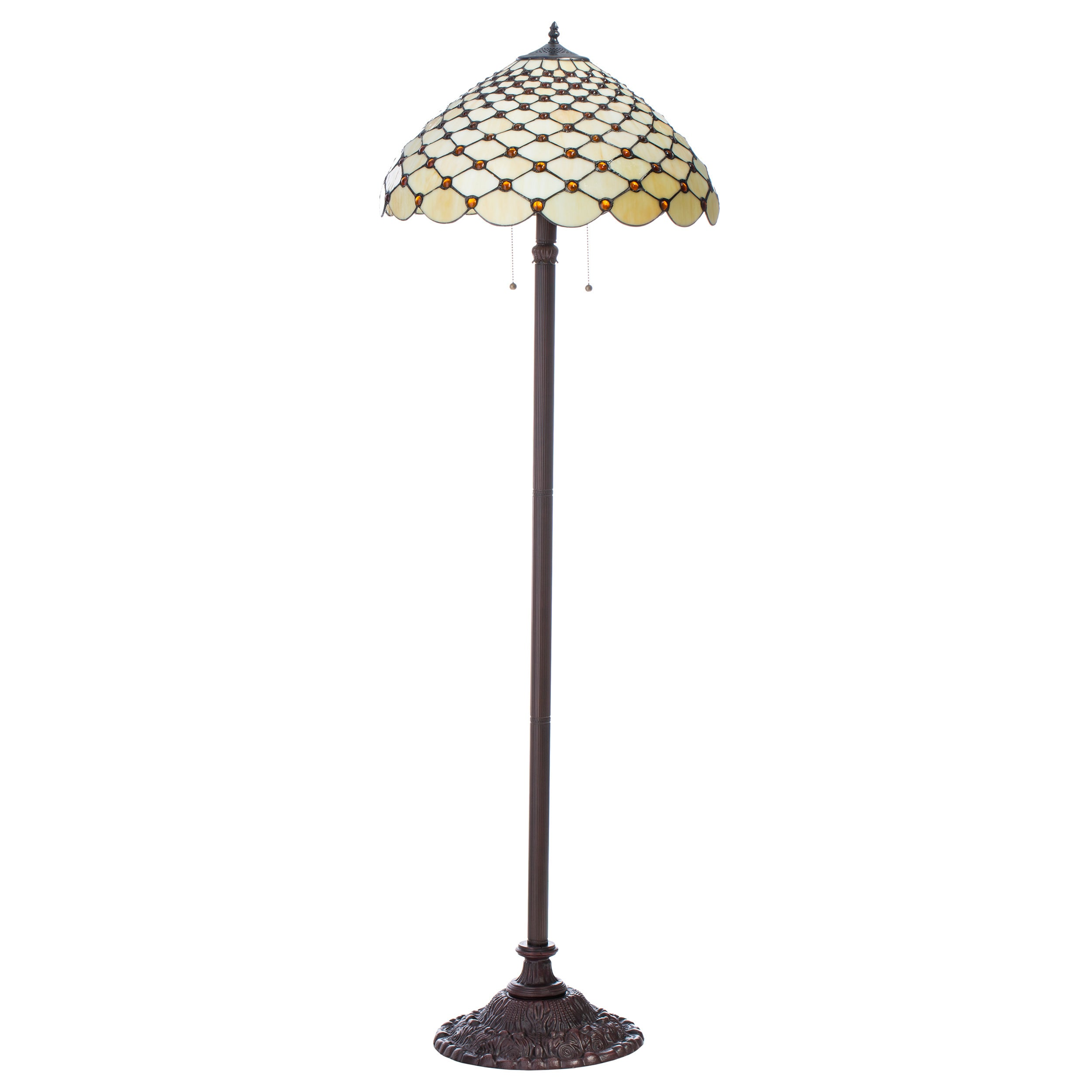 Tiffany-style Jewel Floor Lamp - Free Shipping Today - Overstock ...