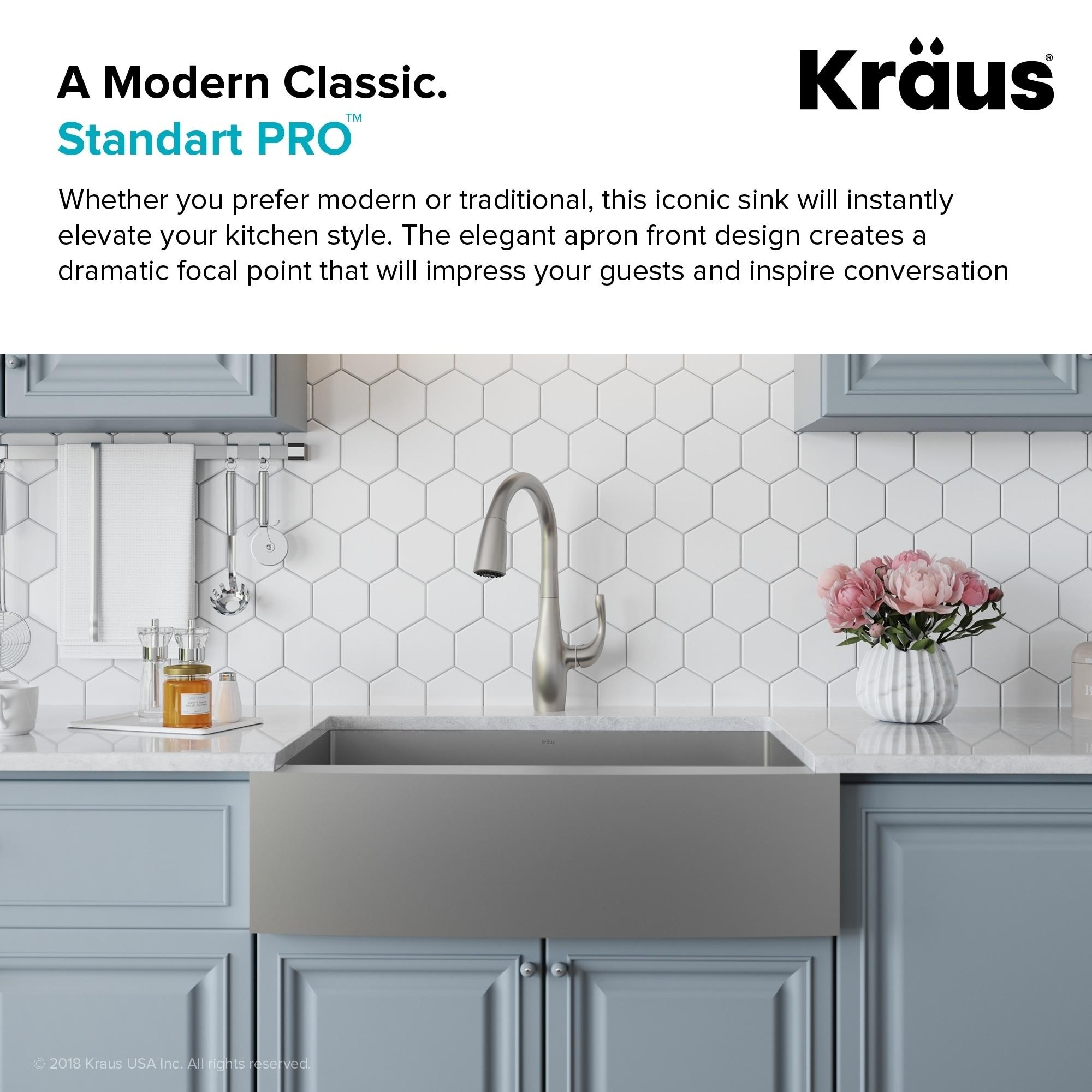 Shop Kraus KHF200-36 Standart PRO Farmhouse Apron 36-inch 16 gauge ...
