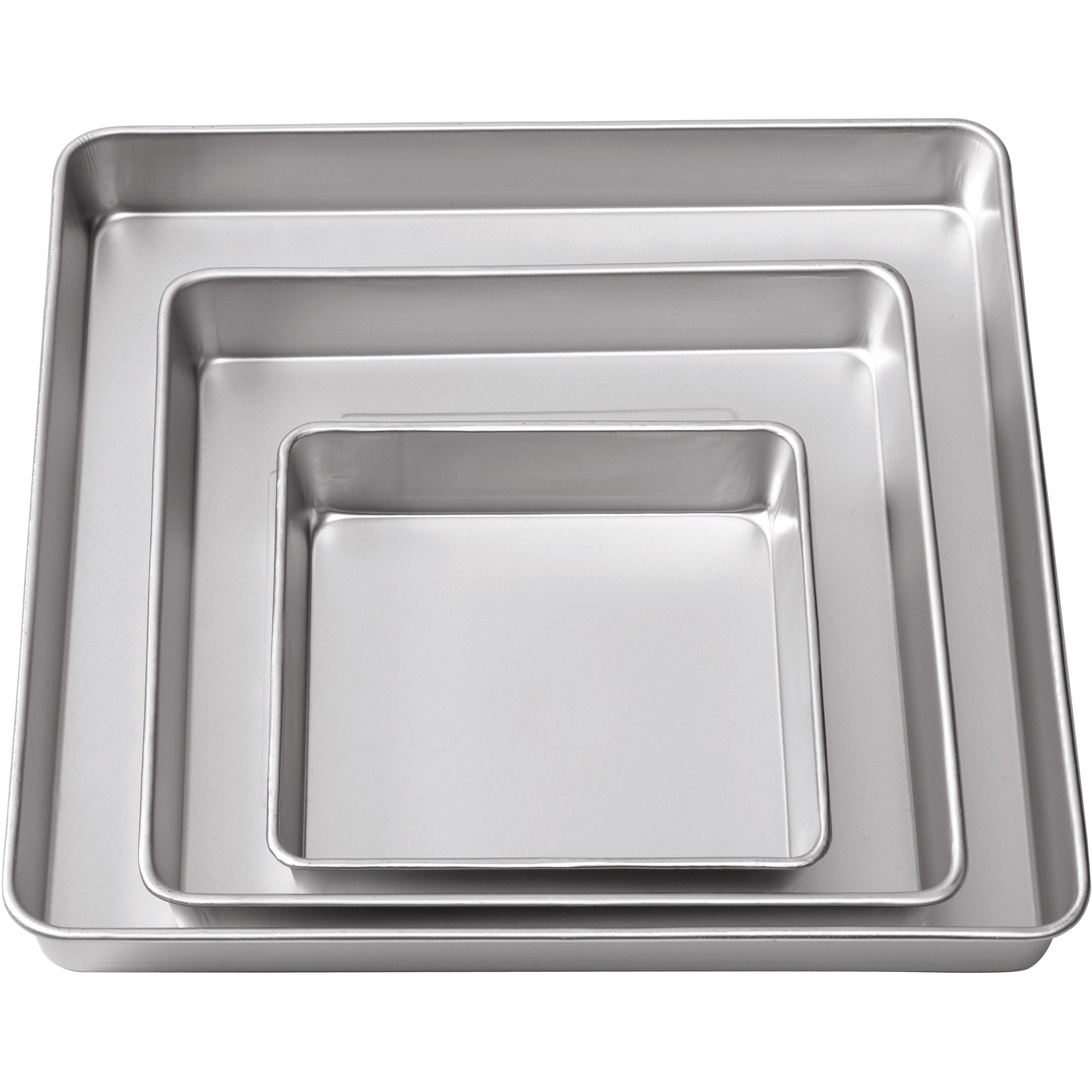 Shop Wilton 3-tier Square Cake Pan Set (Pack of 3 Pans) - Free ...
